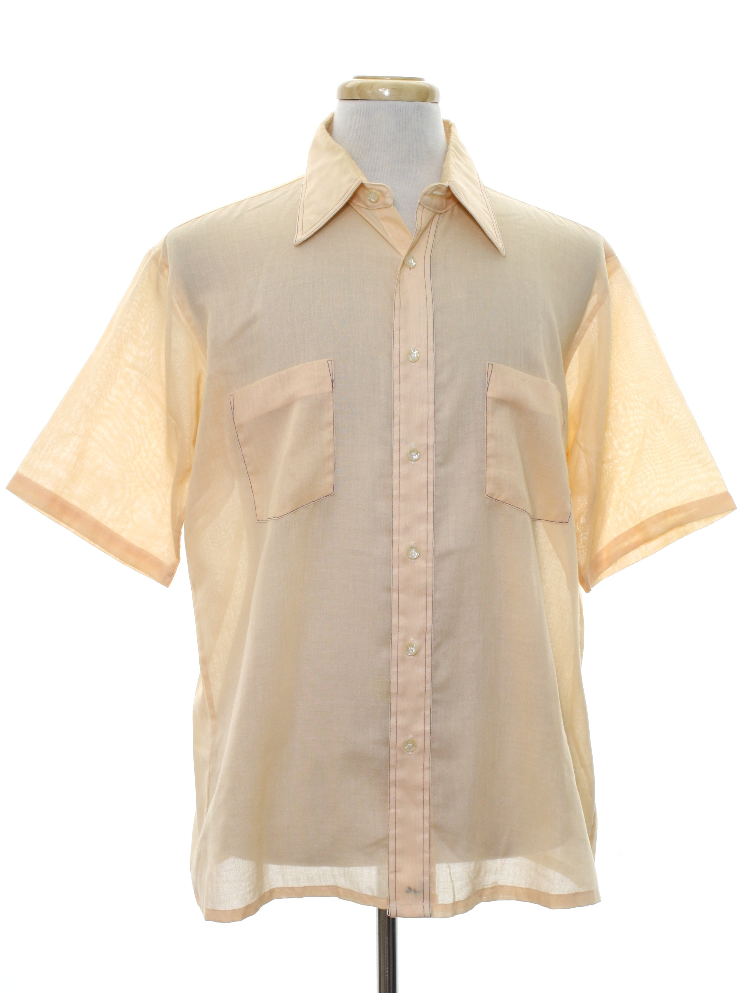 Retro 60s shirt manhattan 60s style made in 80s for Button up collared sport shirts