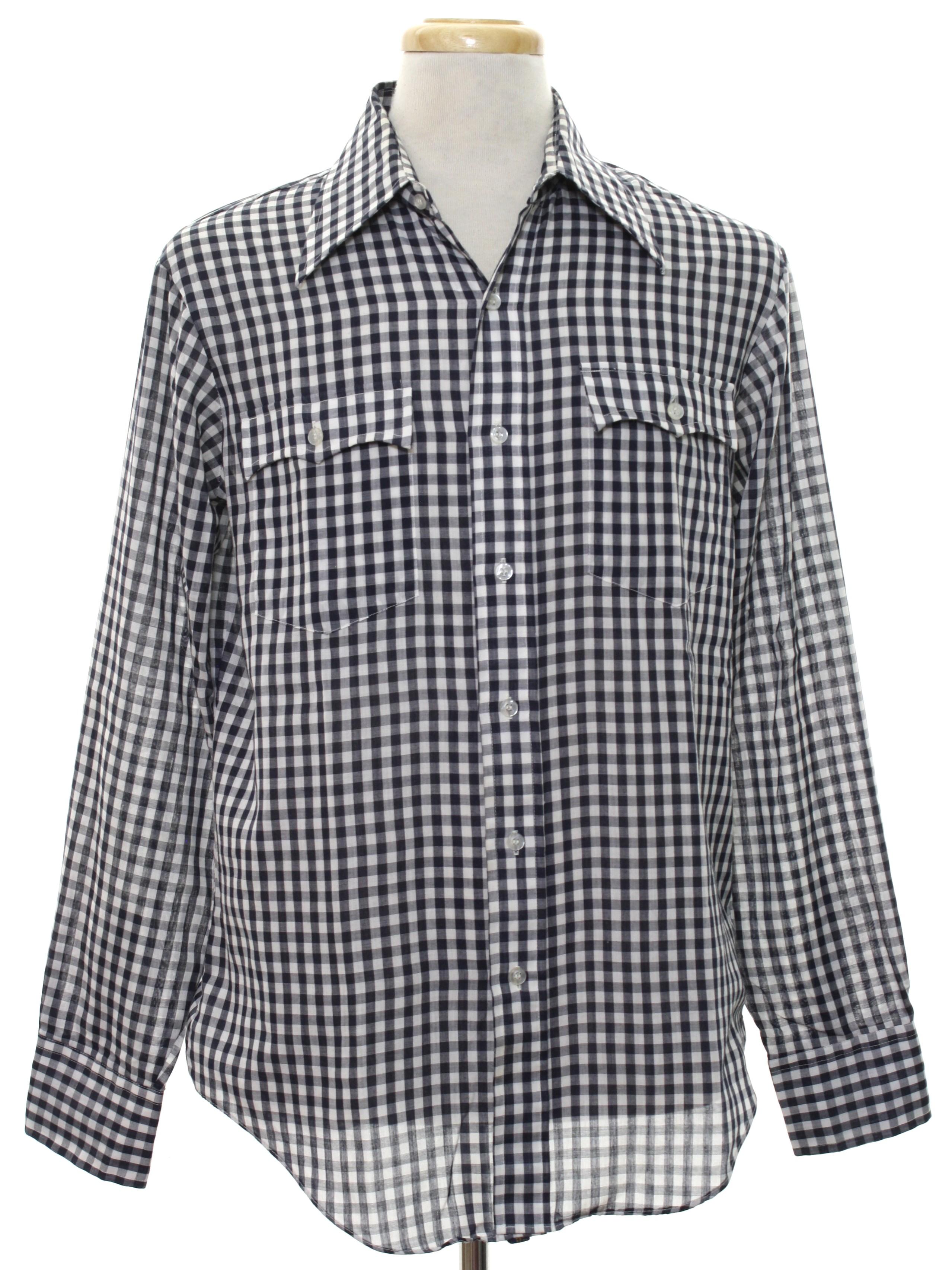 c126a69eaf6 Mens Black And White Plaid Dress Shirt - Cotswold Hire
