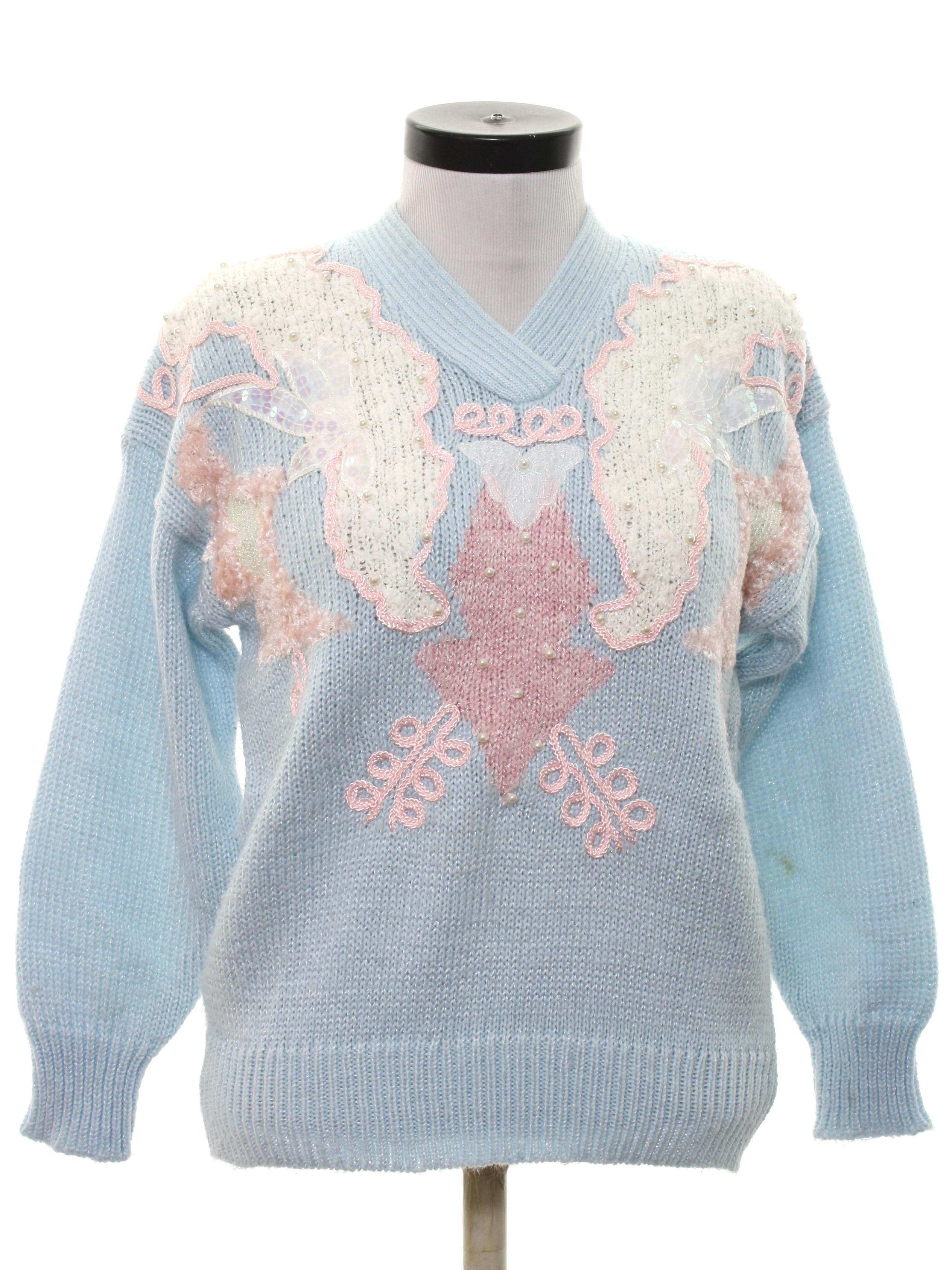 80s Beaded Sweater Jocelyn Smith 80s Jocelyn Smith Womens Light