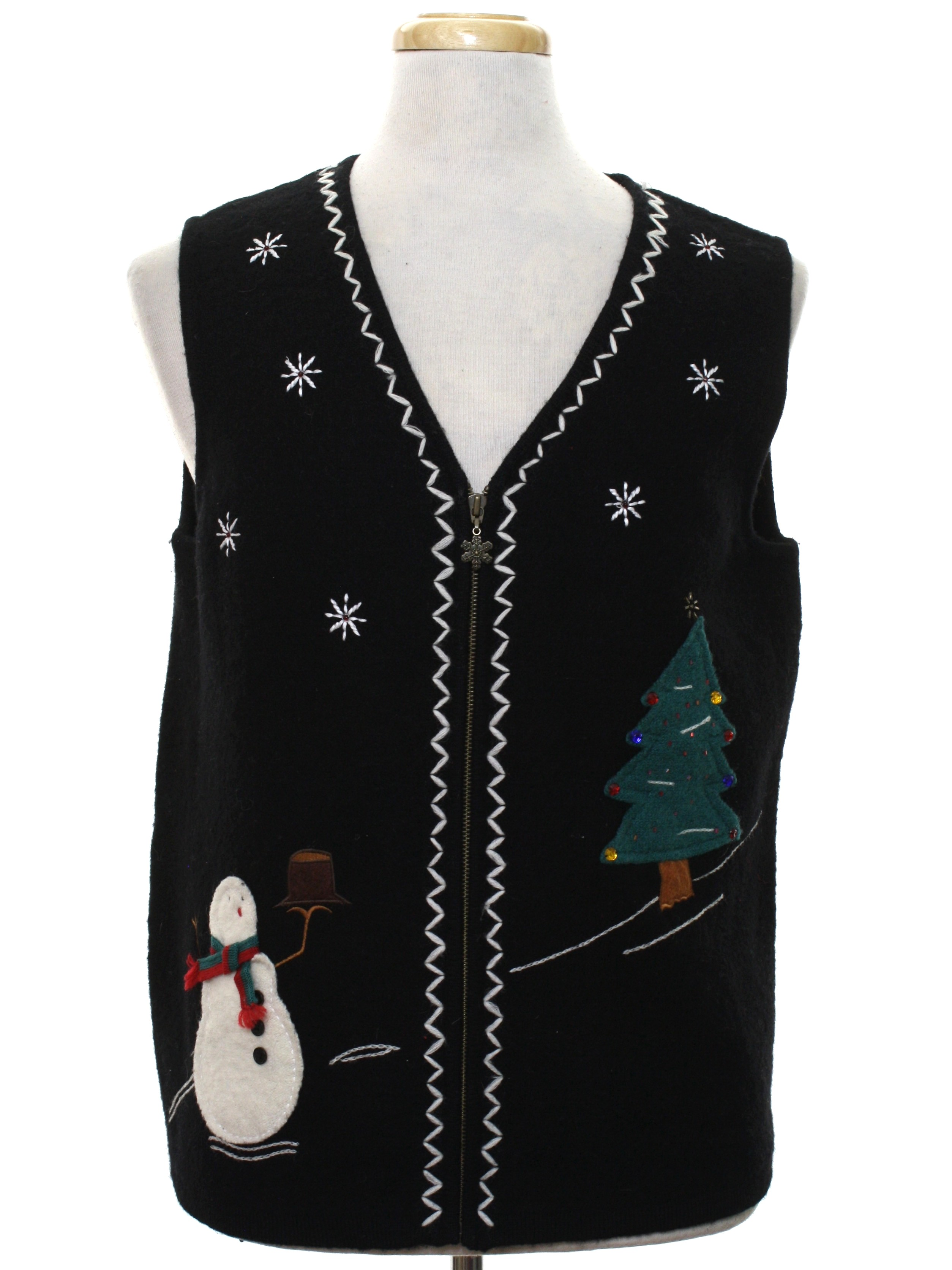 Ugly Christmas Sweater Vest: -Bob Timberlake- Unisex black ...