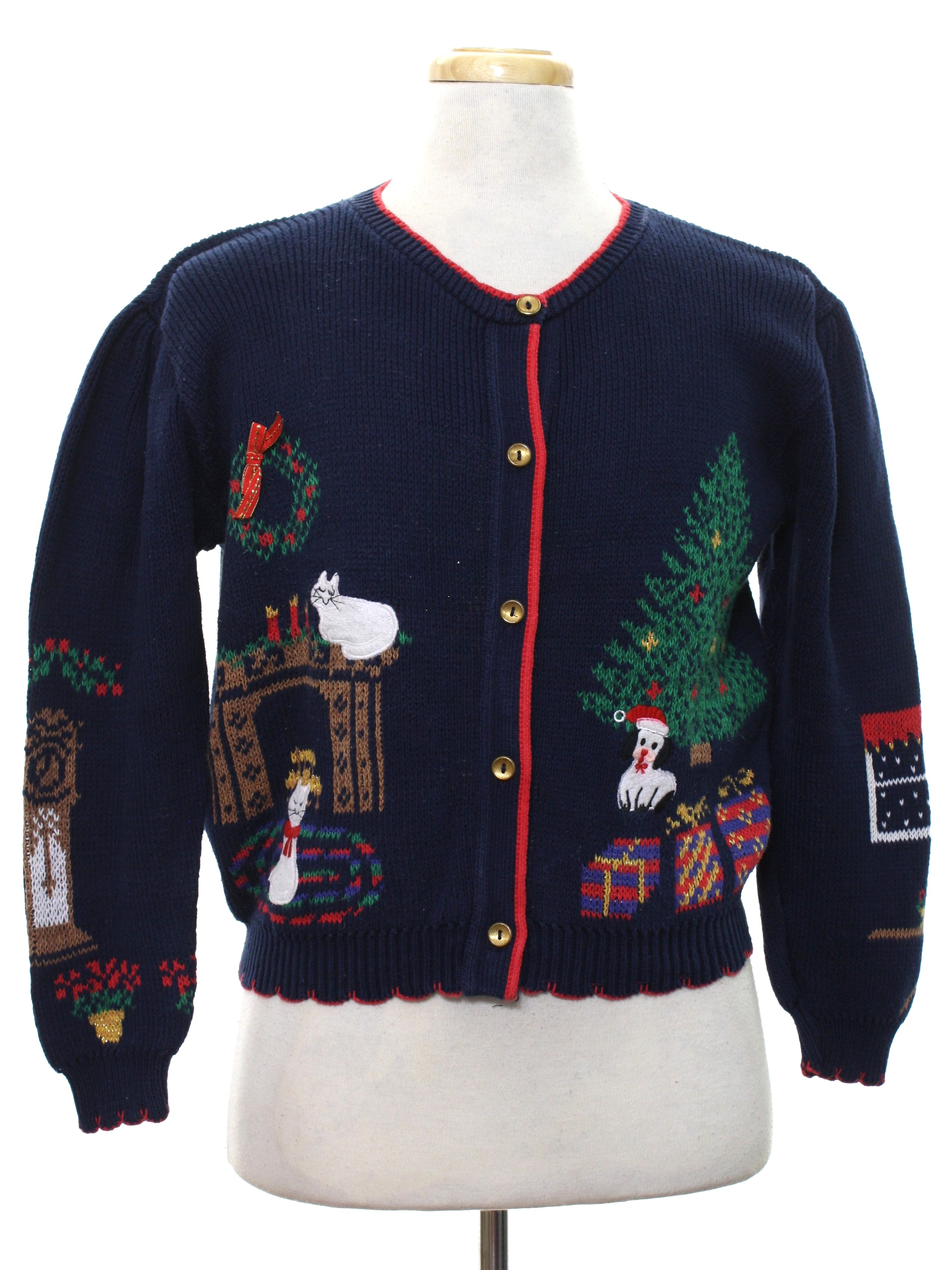 80s Womens Vintage Ugly Christmas Sweater: 80s authentic vintage ...