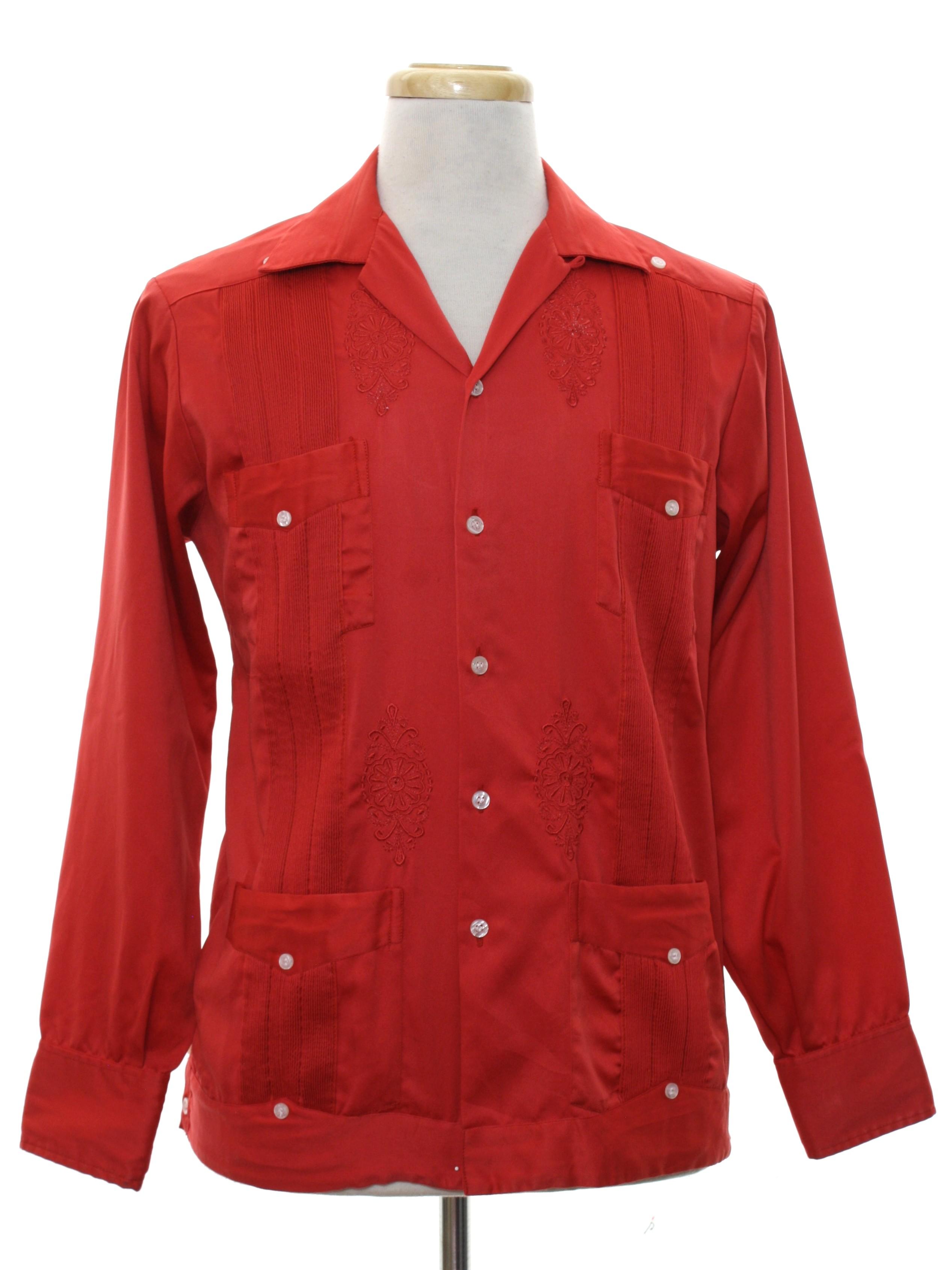 0030addbdf Vintage Guayaberas Yucateca Eighties Guayabera Shirt  80s ...