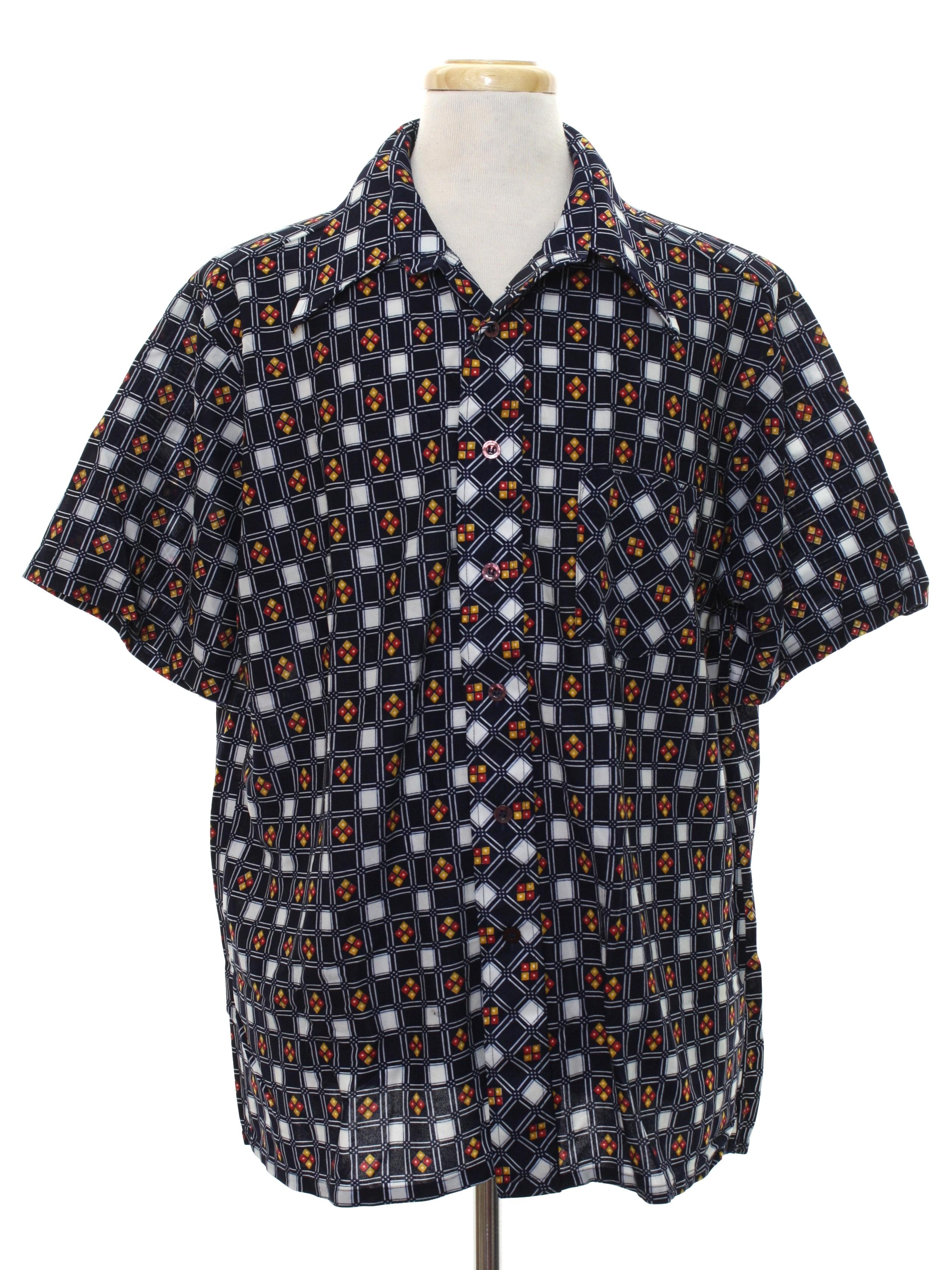1970 39 s vintage arrow print disco shirt 70s arrow mens for Sports shirts near me