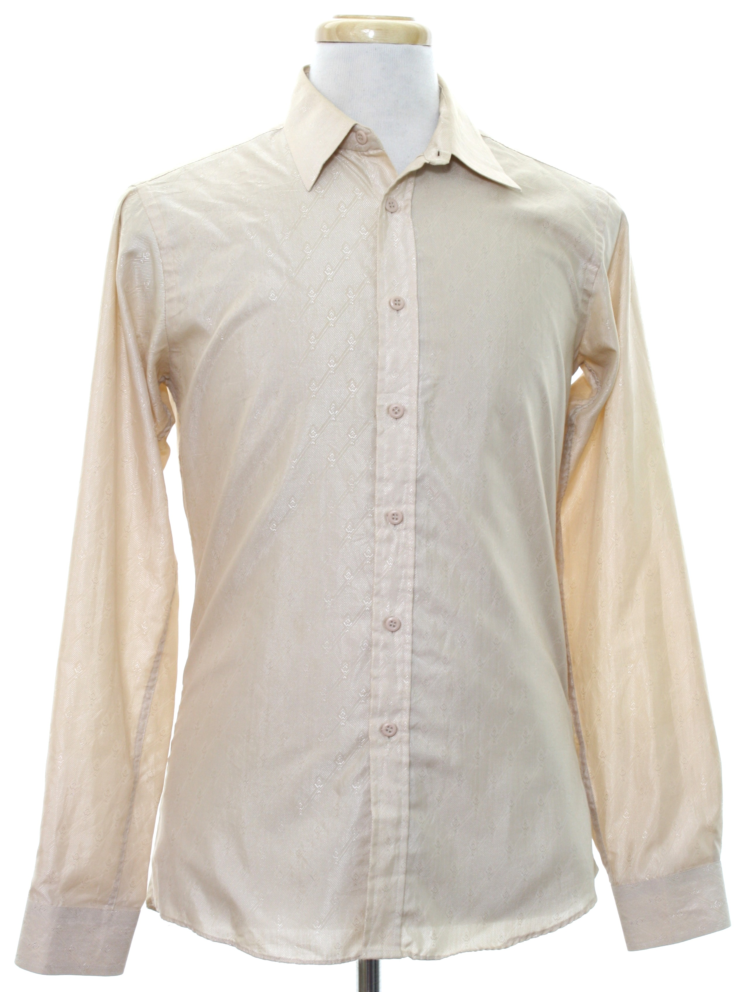 1980 S Retro Shirt 80s Chams Mens Champagne Polyester