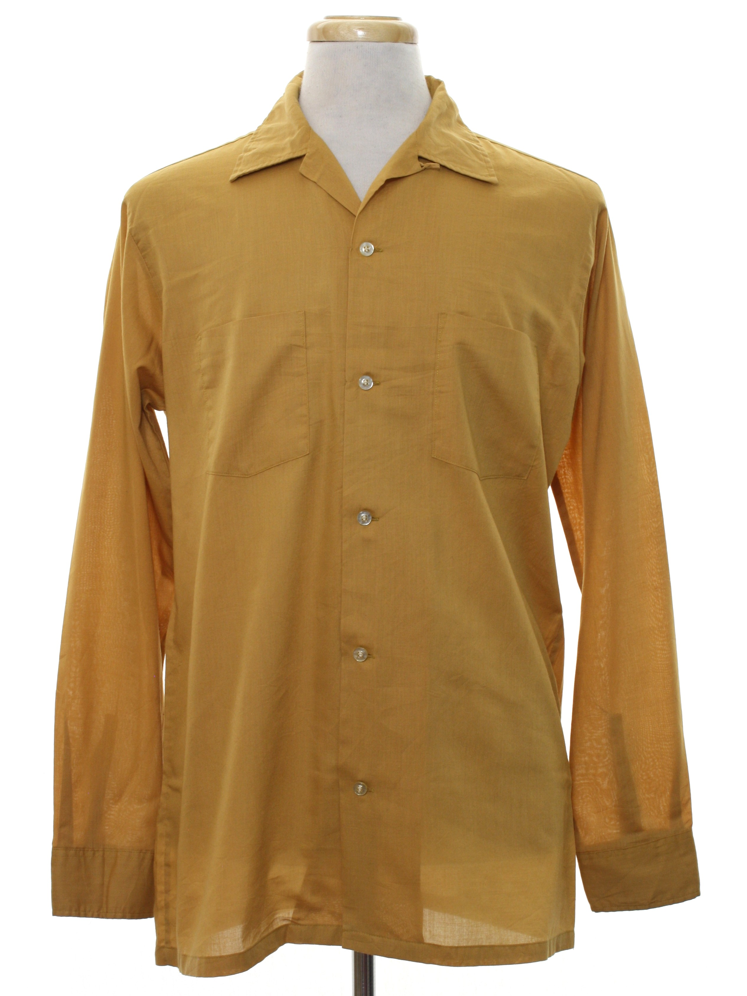 60s retro shirt 60s towncraft tall mens harvest gold for Button up collared sport shirts
