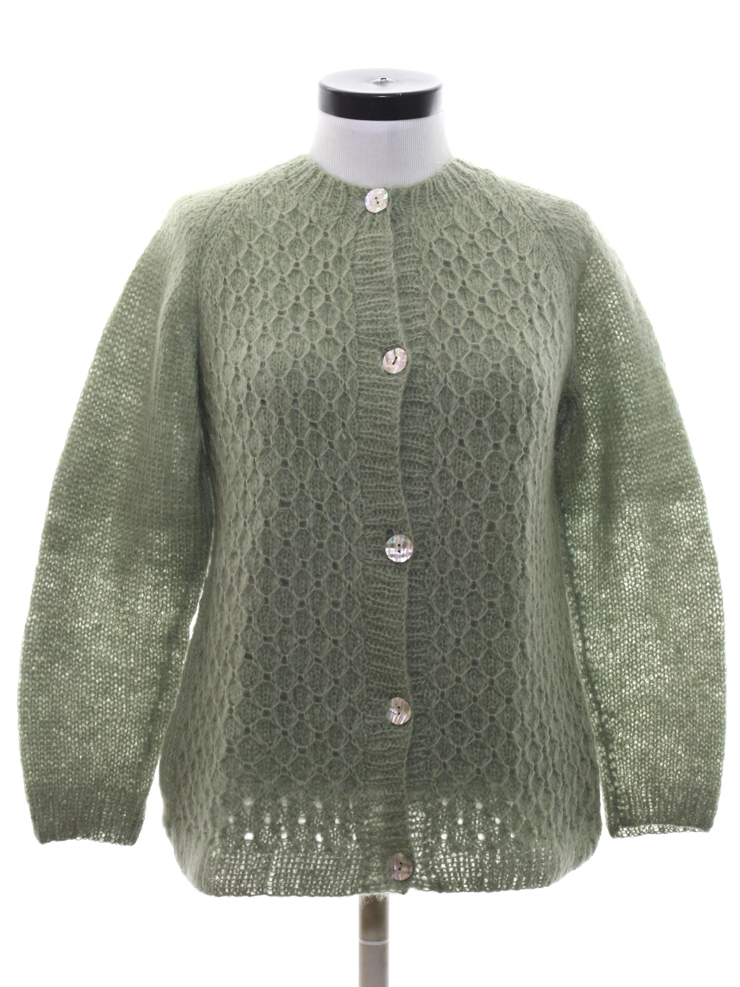 Retro 1960 s Caridgan Sweater (Home Sewn)   60s -Home Sewn- Womens ... ea90882dcf
