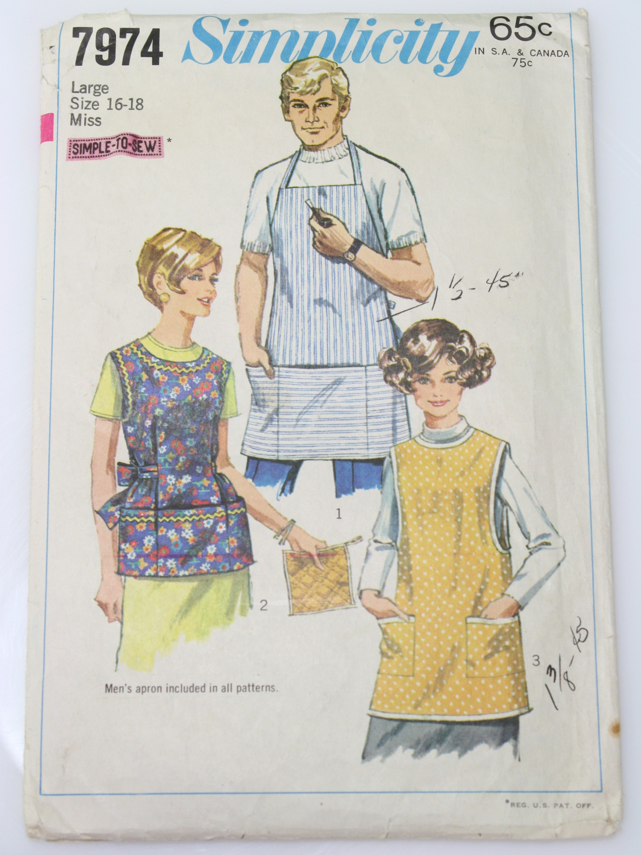 60s Vintage Simplicity pattern no. 7974 Sewing Pattern: 60s ...