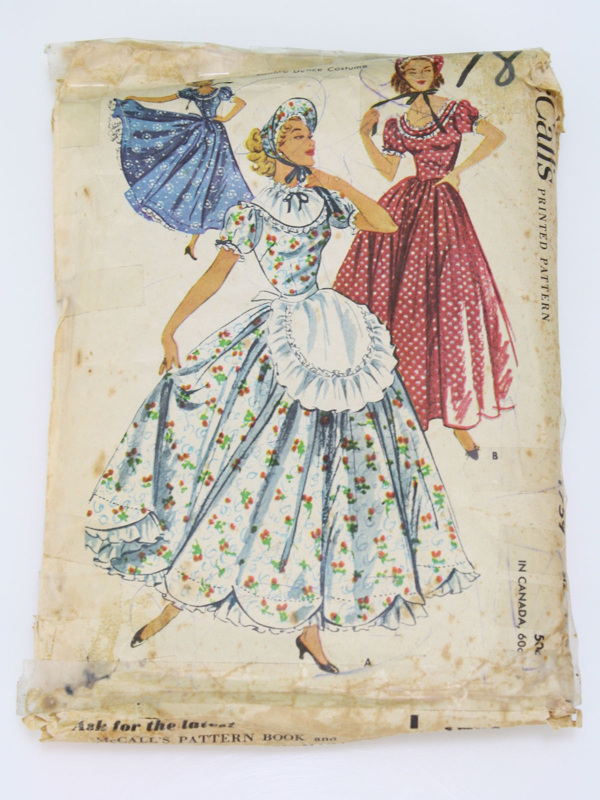Vintage McCalls Pattern No. 1759 1950s Sewing Pattern: 1952 -McCalls ...