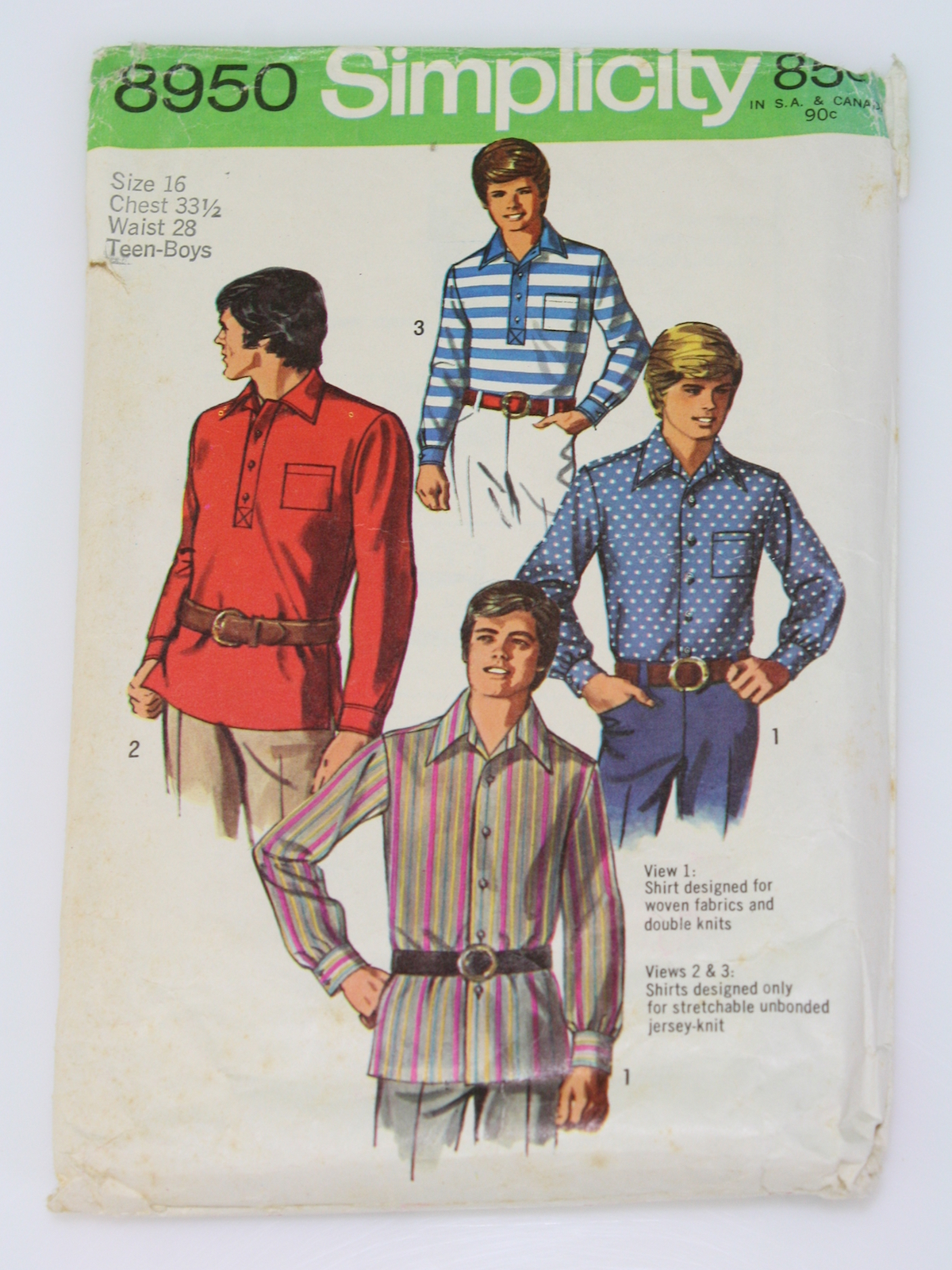 70s Sewing Pattern (Simplicity 8950): 1970 -Simplicity 8950- Mens ...