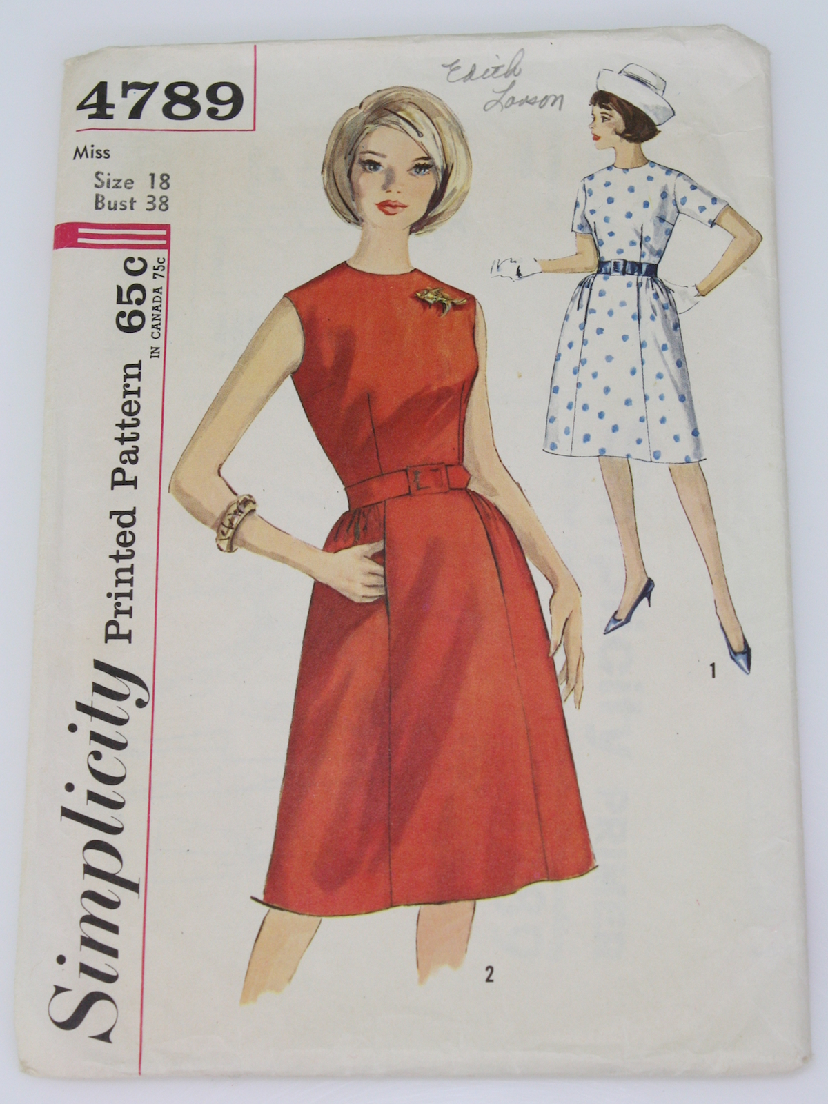 Retro 1960 S Sewing Pattern Simplicity 4789 60s