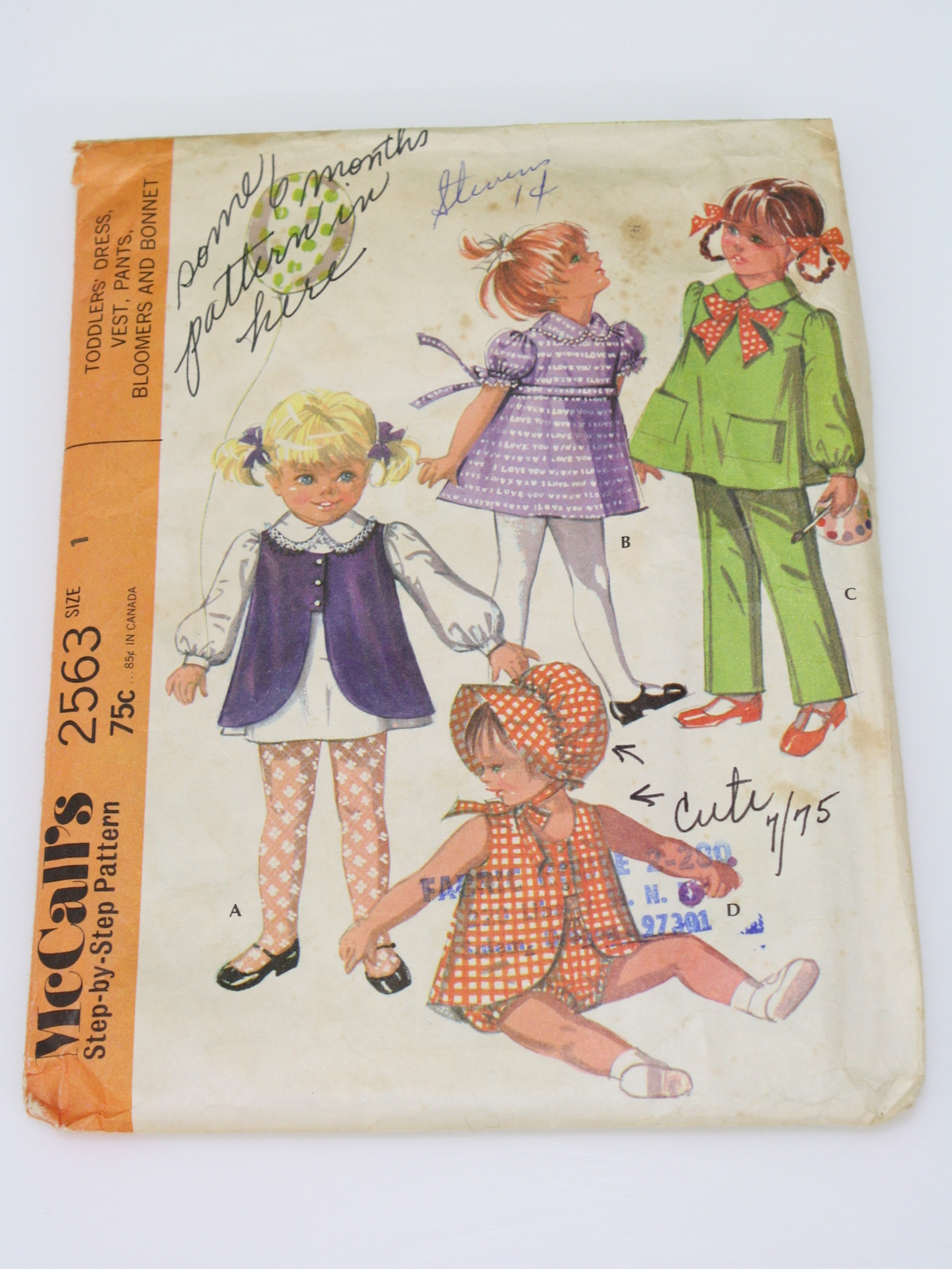 fdd41a1b0546 1970 s Sewing Pattern (McCalls Pattern No. 2563)  70s -McCalls ...