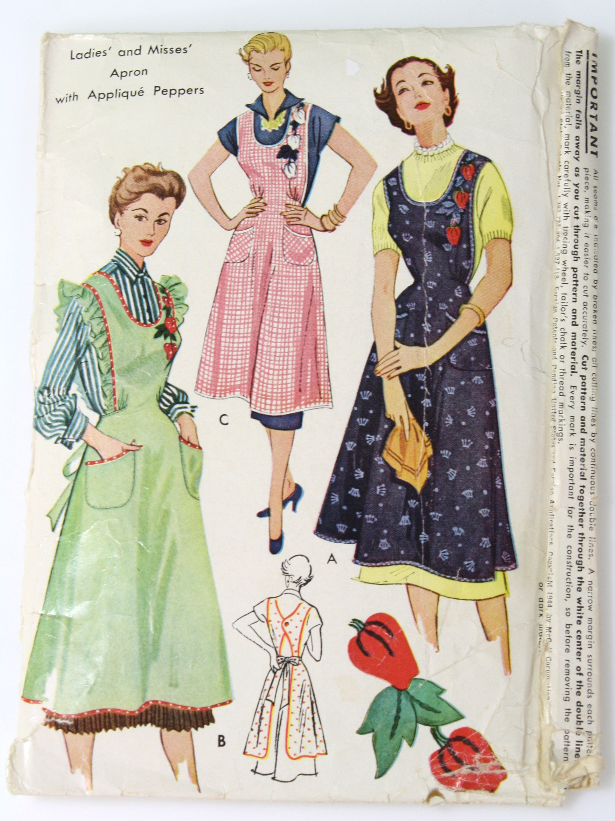 Vintage 1940\'s Sewing Pattern: 40s -McCalls Pattern No. 1104- Womens ...
