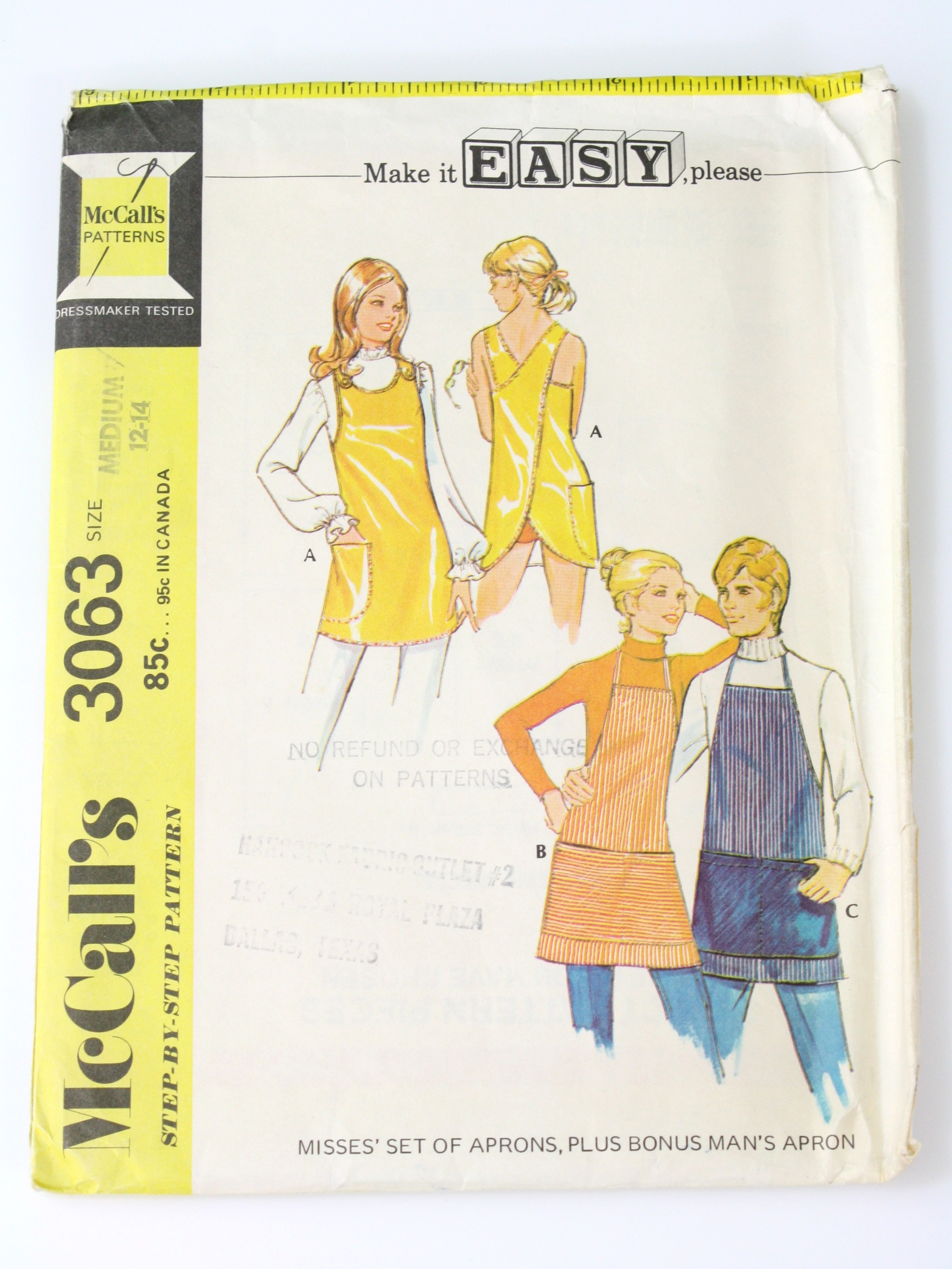 Vintage 70s Sewing Pattern: 70s -McCalls Pattern No. 3063- Womens ...