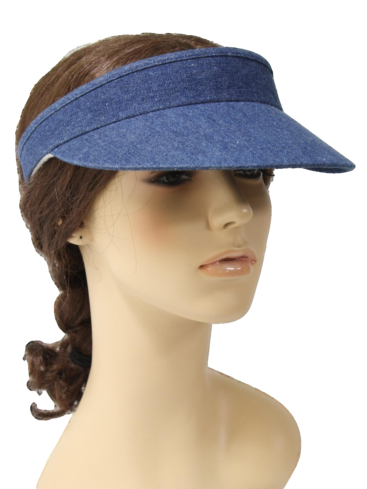80 s Vintage Hat  80s -Care Label- Womens dark blue denim looking ... 3aa34596720