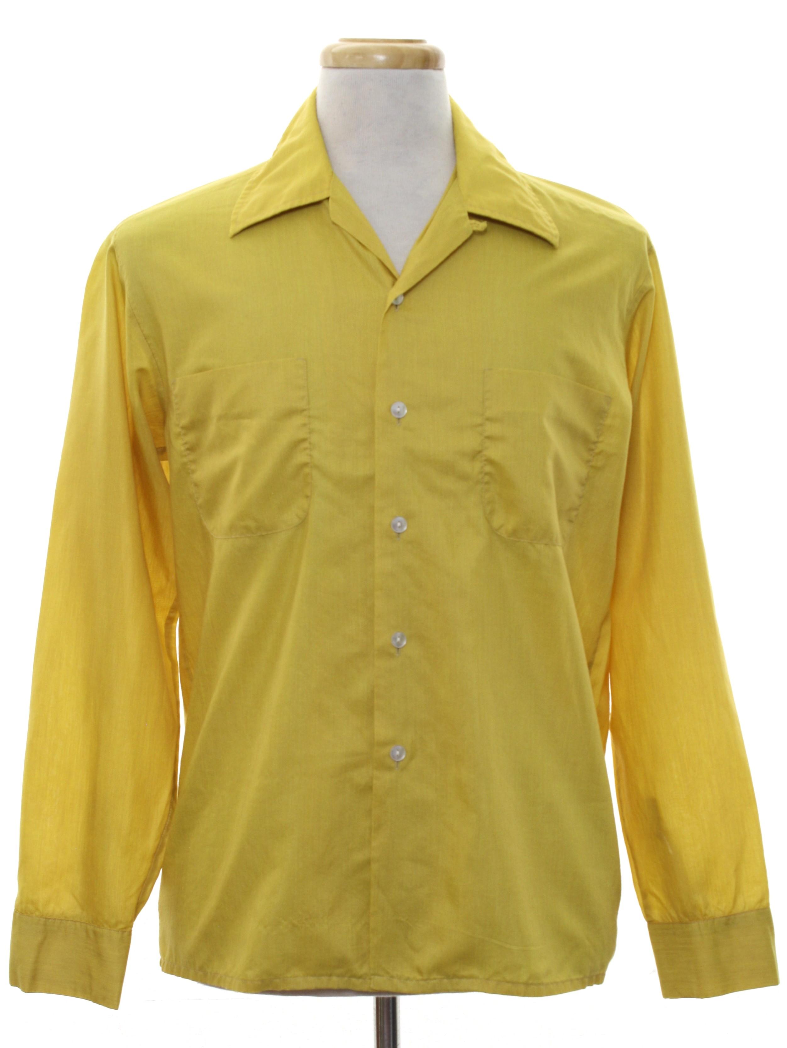 Vintage mcgregor 1960s shirt 60s mcgregor mens hazy for Button up collared sport shirts