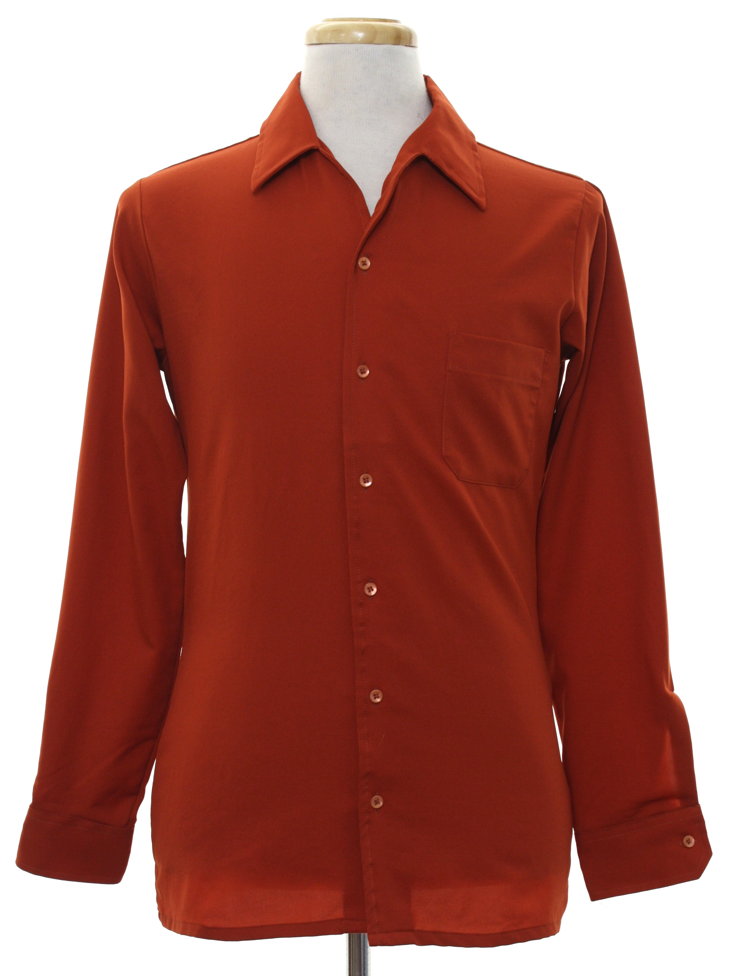 Eighties vintage shirt 80s arrow sportswear mens rusty for Button up collared sport shirts