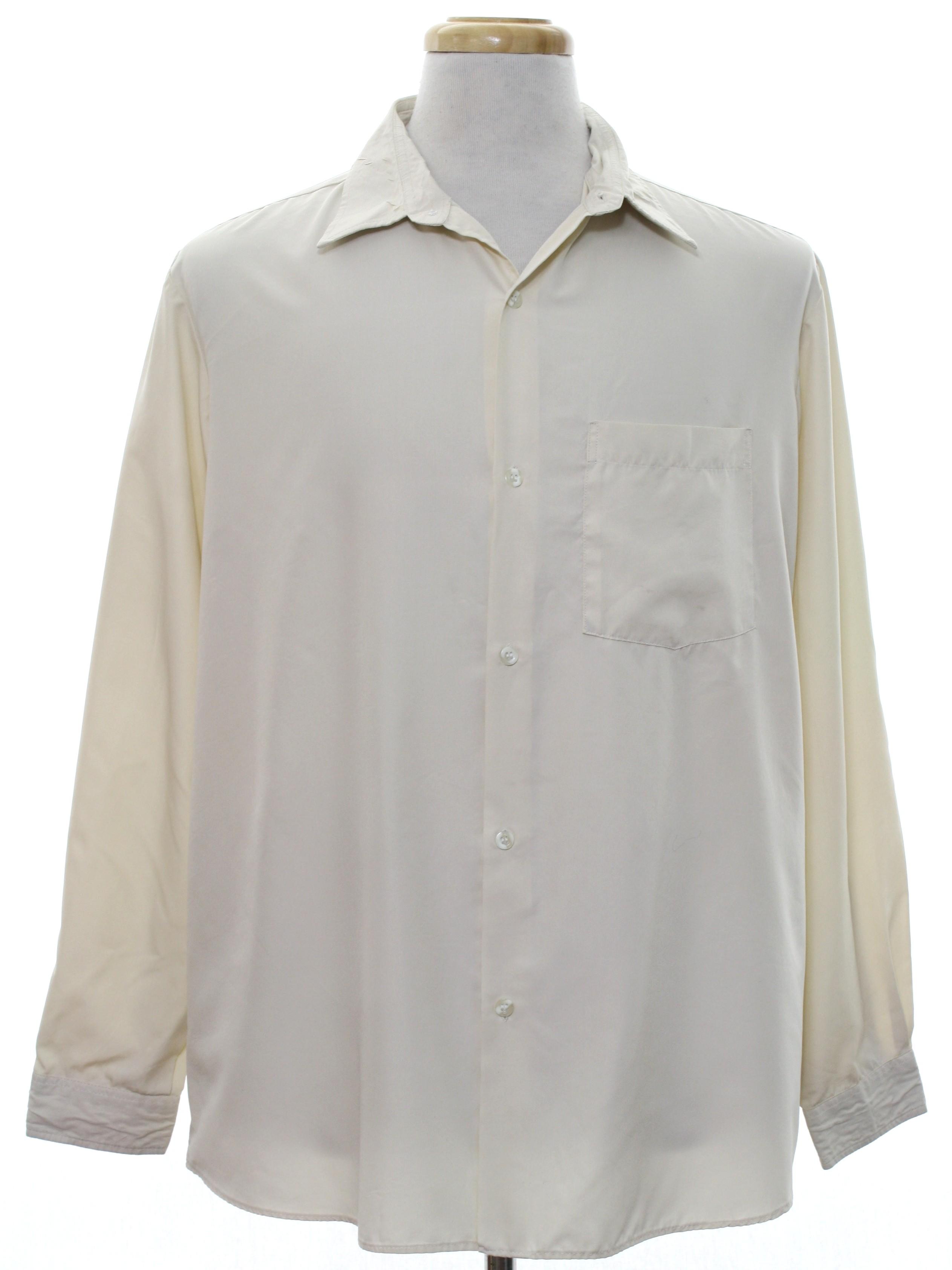 80s shirt danboa bazar 80s danboa bazar mens ecru for Button up collared sport shirts