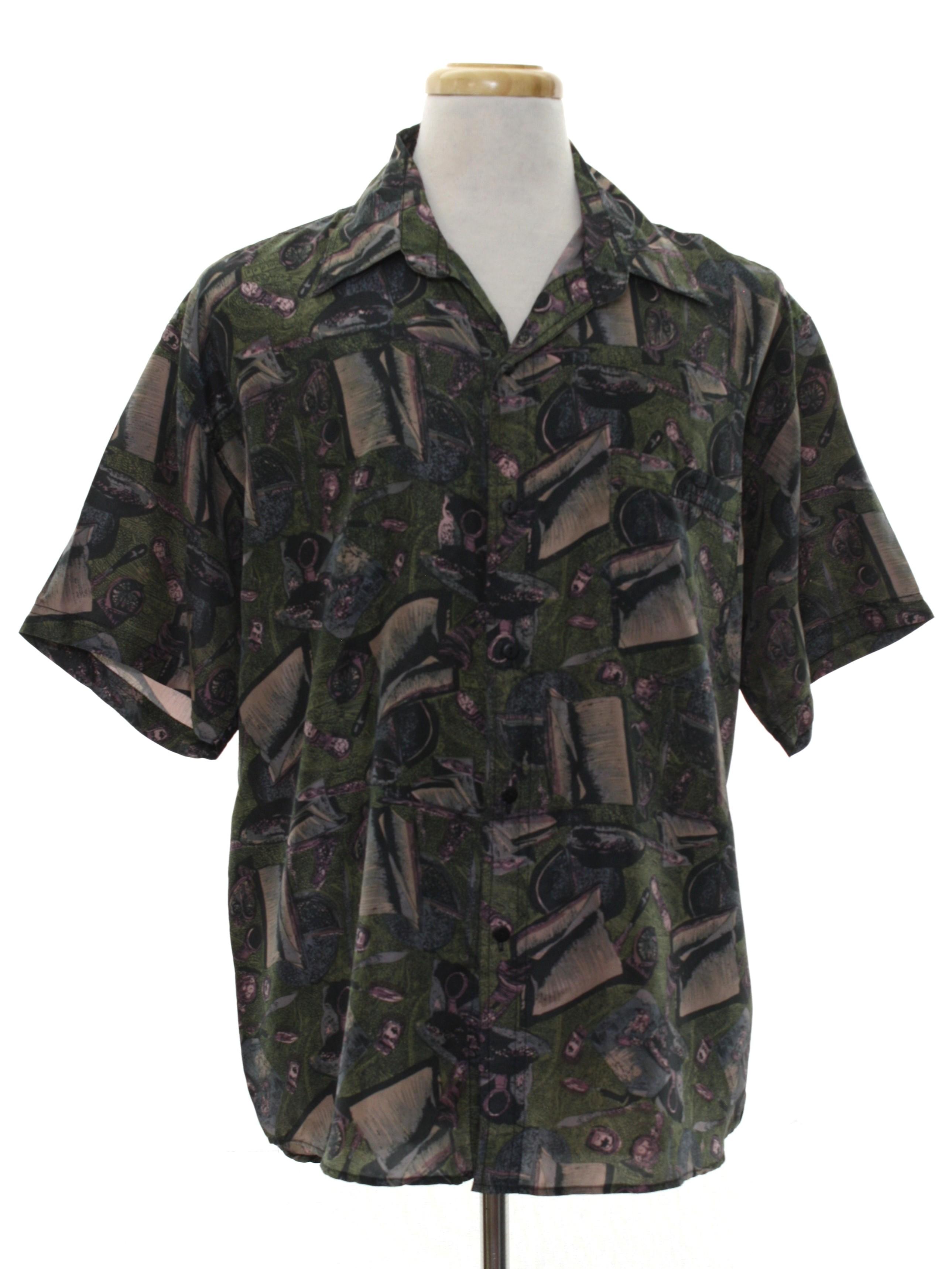 Vintage mens chinese silk shirt still variants?