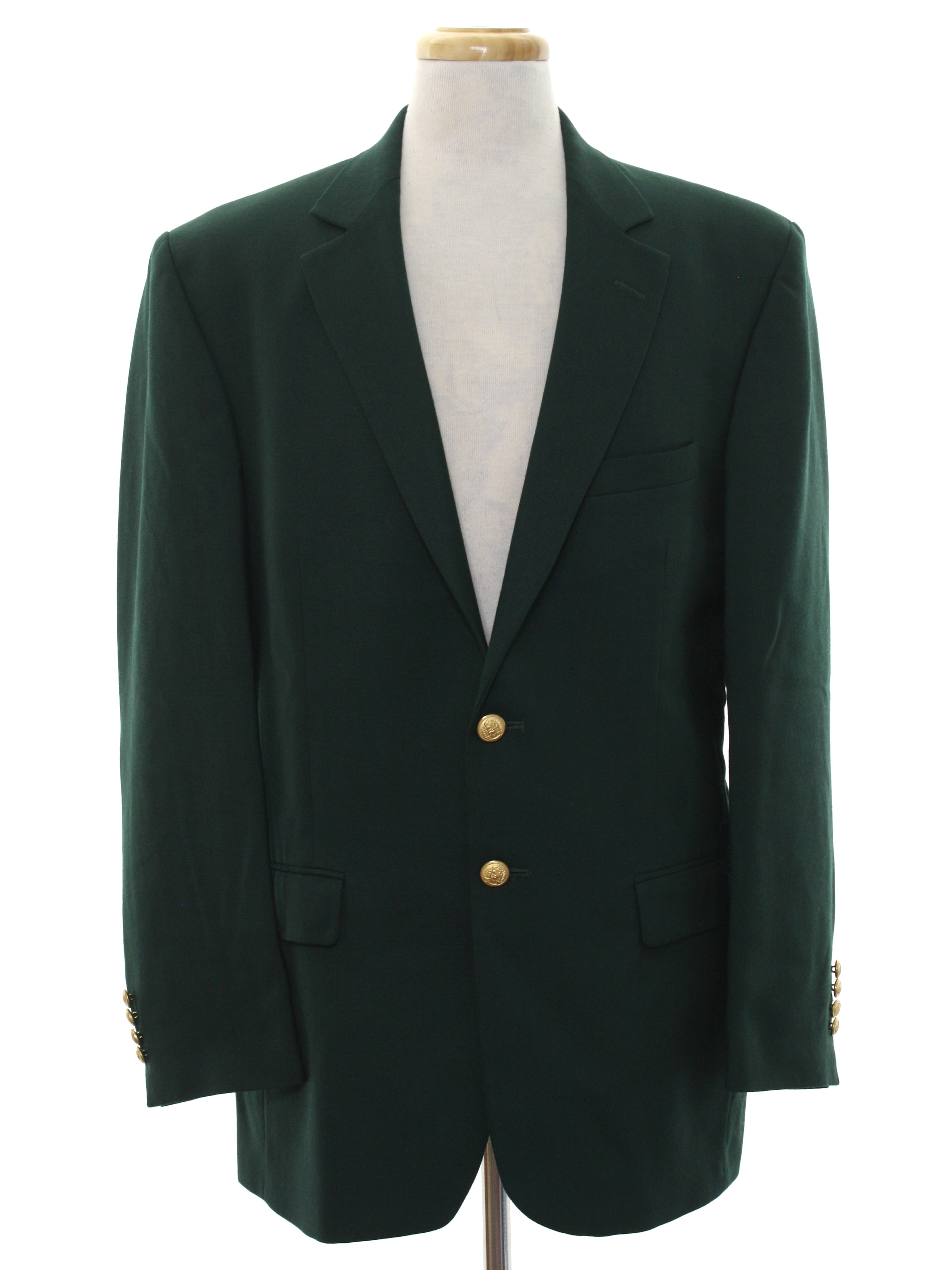 Retro 80's Jacket: 80s -Size Label Only- Mens dark green ...