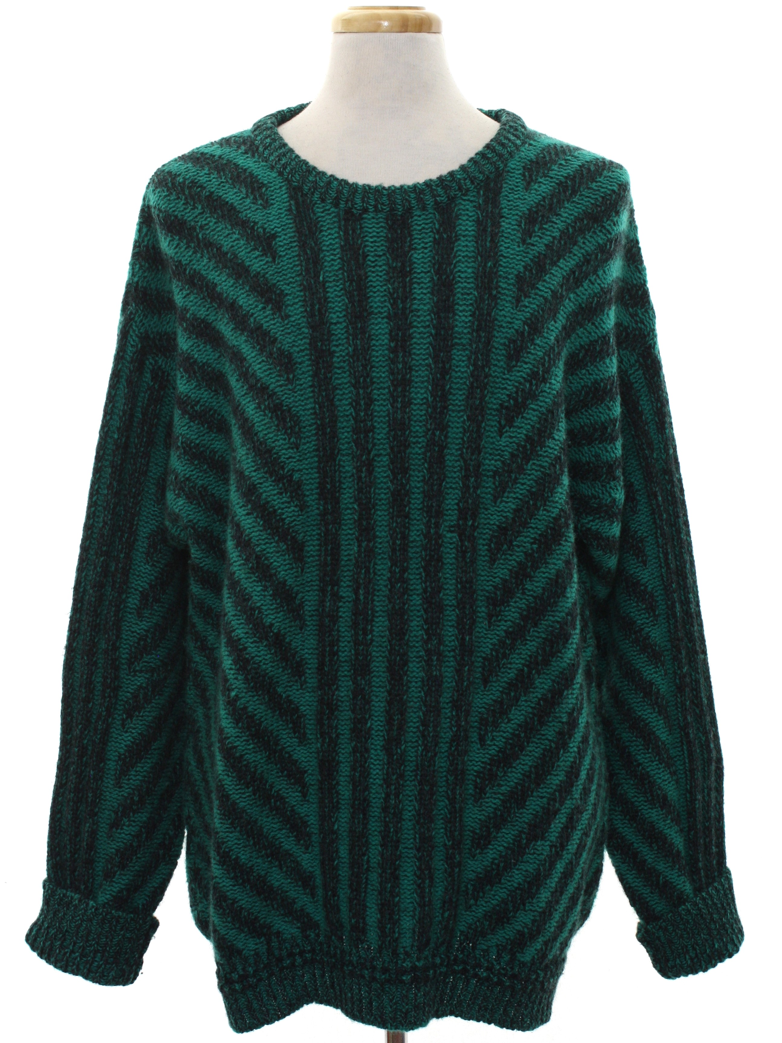 1980's Damon Tall Man Mens Totally 80s Wool Cosby Style Sweater