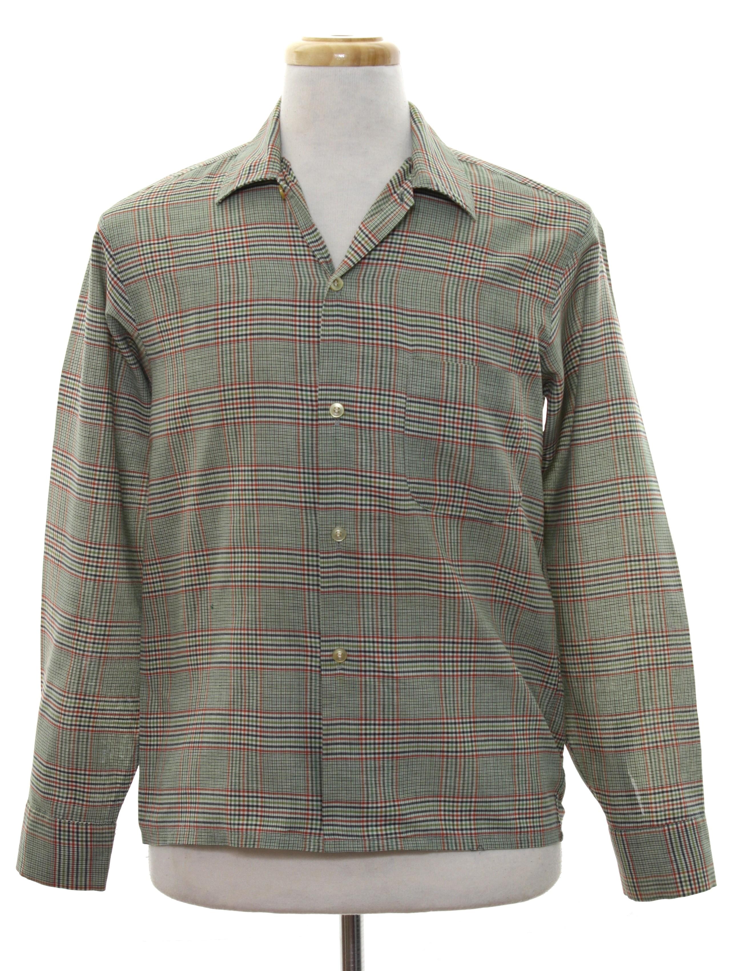 2a0c1ae5b9a1a 1960's Permanent Press Mens Mod Sport Shirt