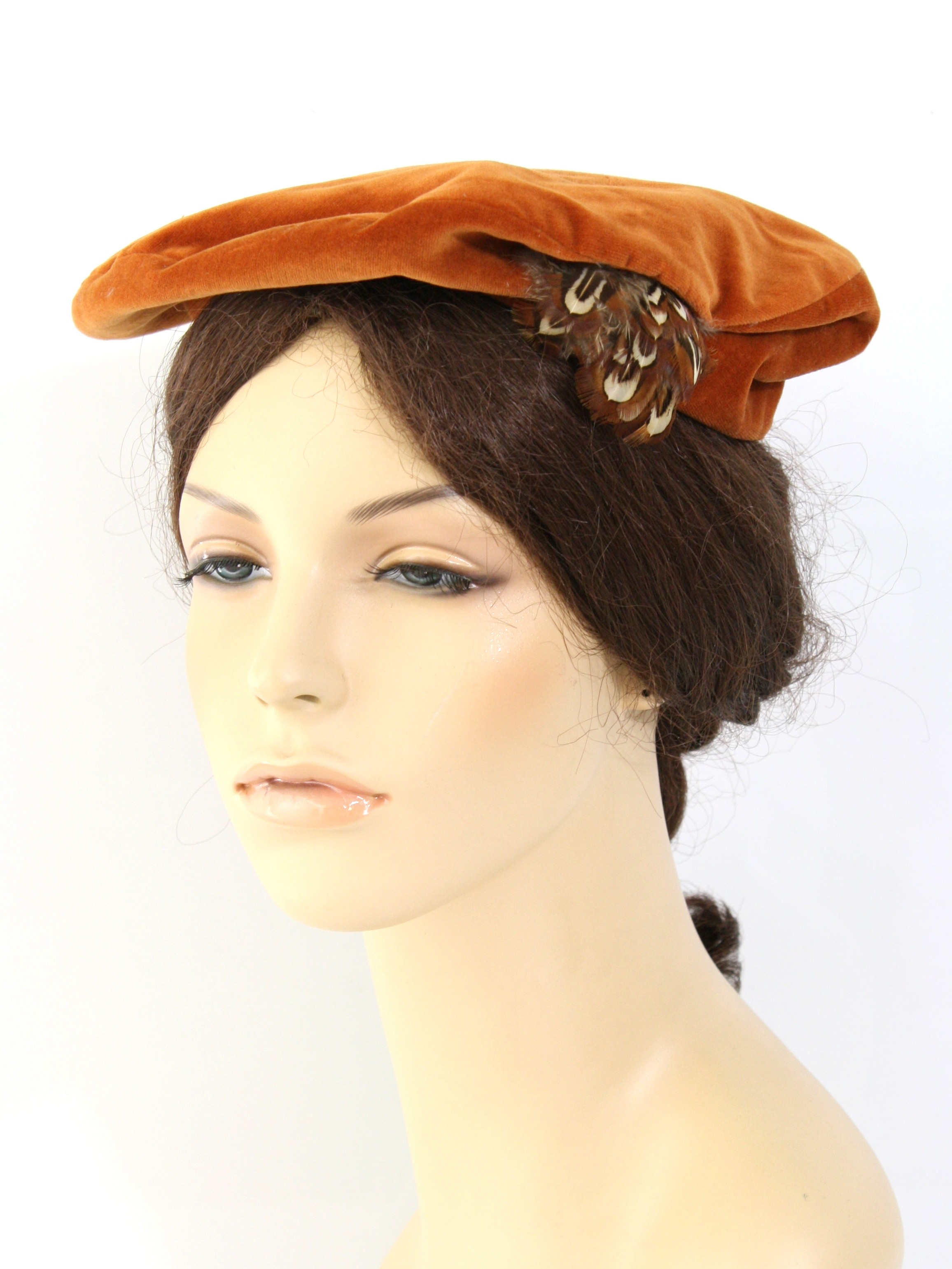 9da35c75a6c228 Retro 60s Hat (Betmar) : 60s -Betmar- Womens rusty orange background ...