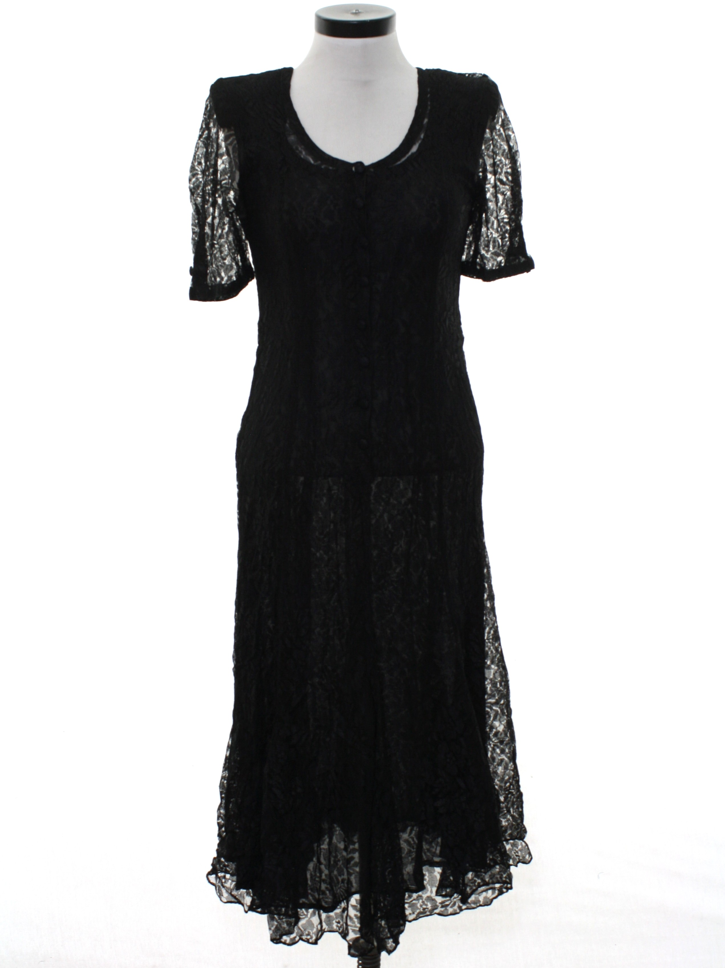 15b21f7a Vintage 1990's Cocktail Dress: Early 90s -Nostalgia- Womens black ...