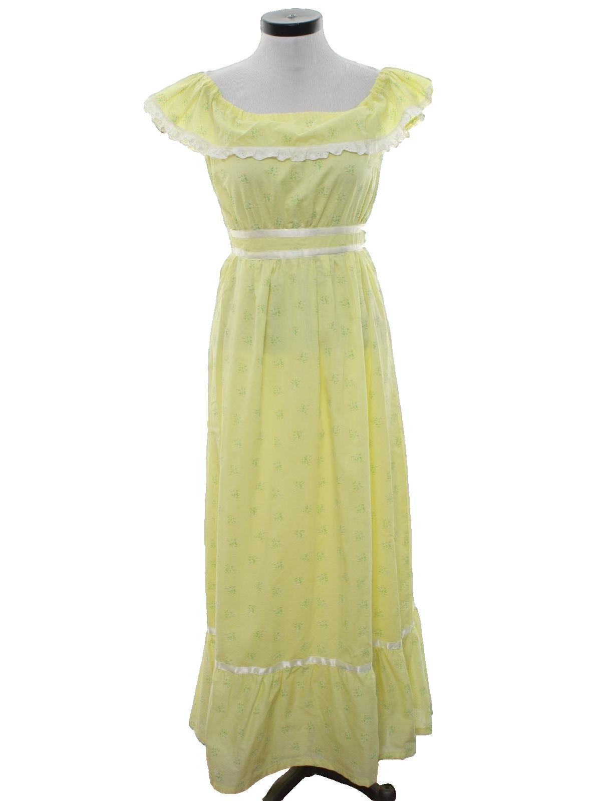 Missing Label 70\'s Vintage Cocktail Dress: 70s -Missing Label ...