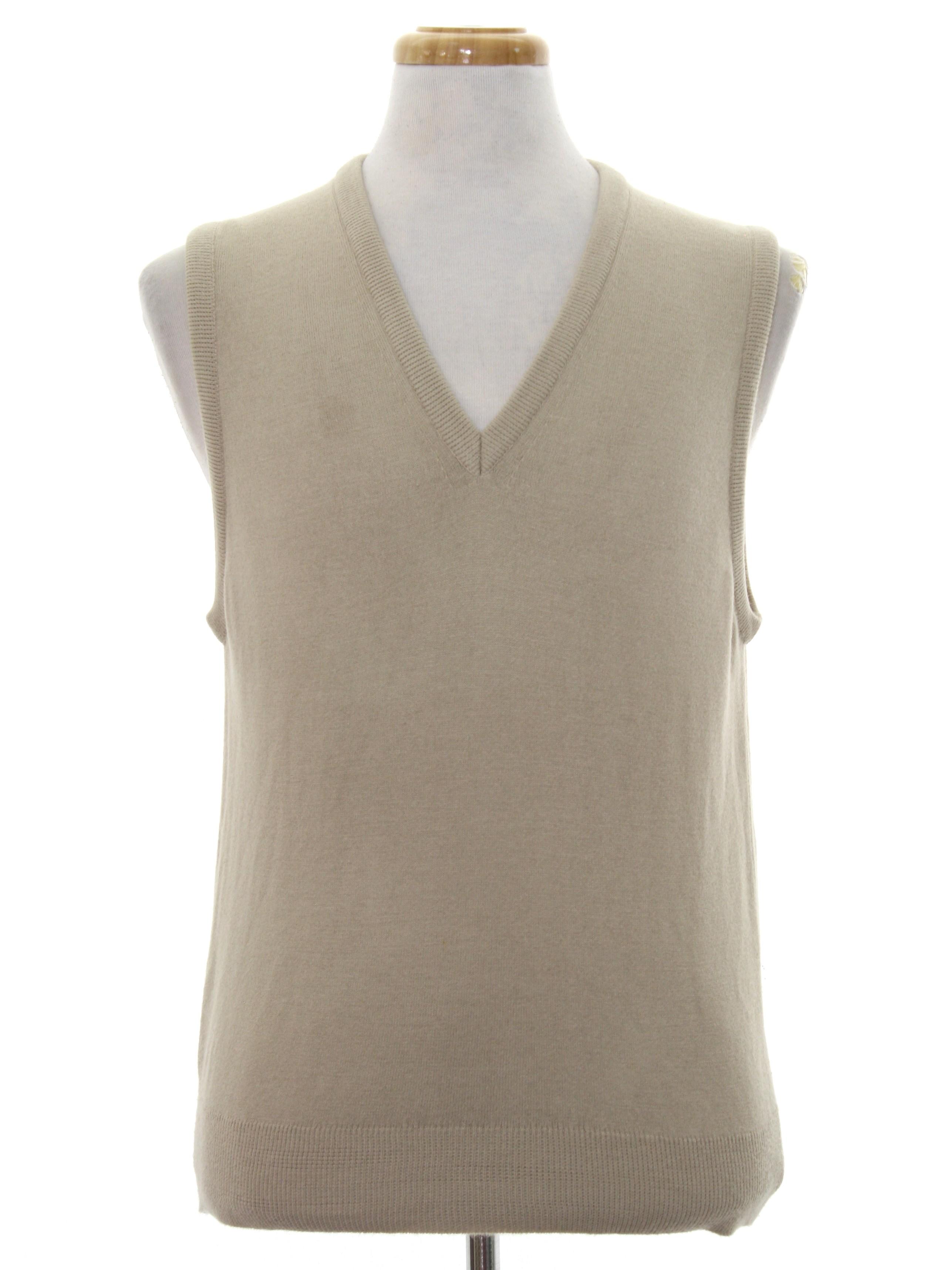 1970's Sweater (Par Four): 70s or early 80s -Par Four- Mens beige ...