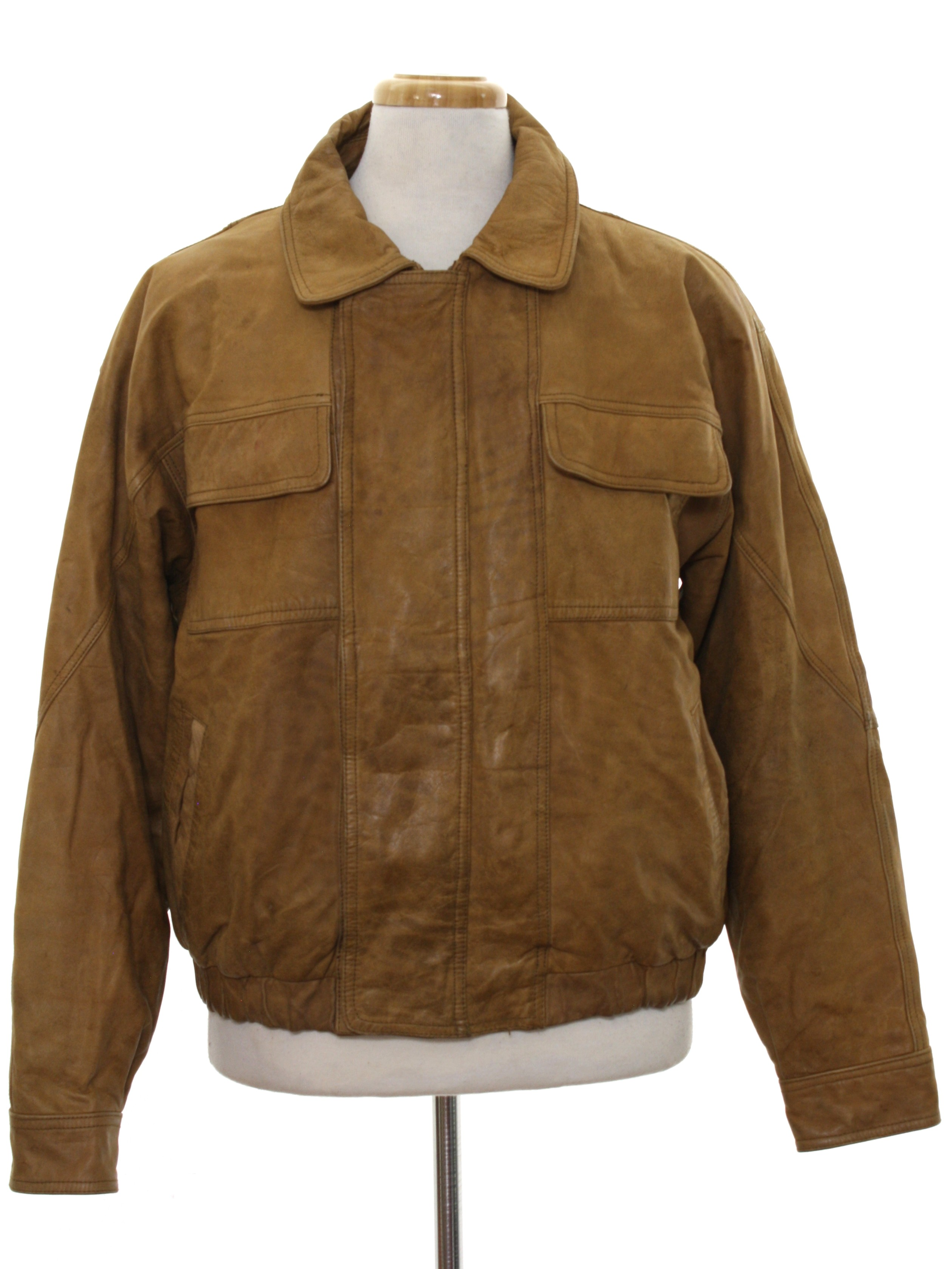 Retro Eighties Leather Jacket Late 80s Or Early 90s New