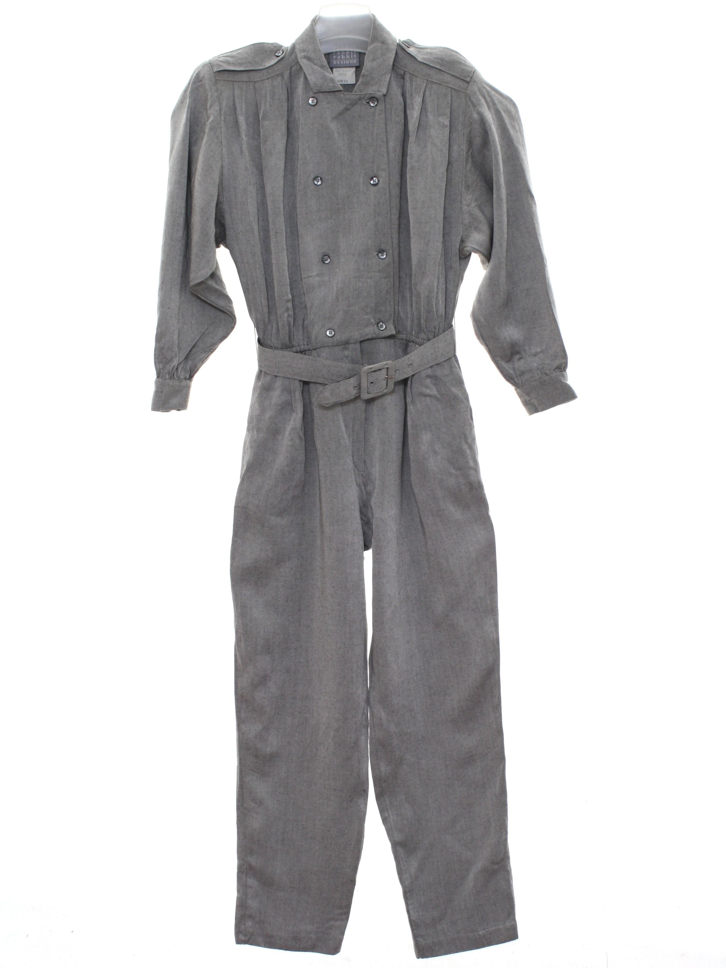 62a7aef893f Retro 1980 s Suit (rabbit)   80s -rabbit- Womens grey