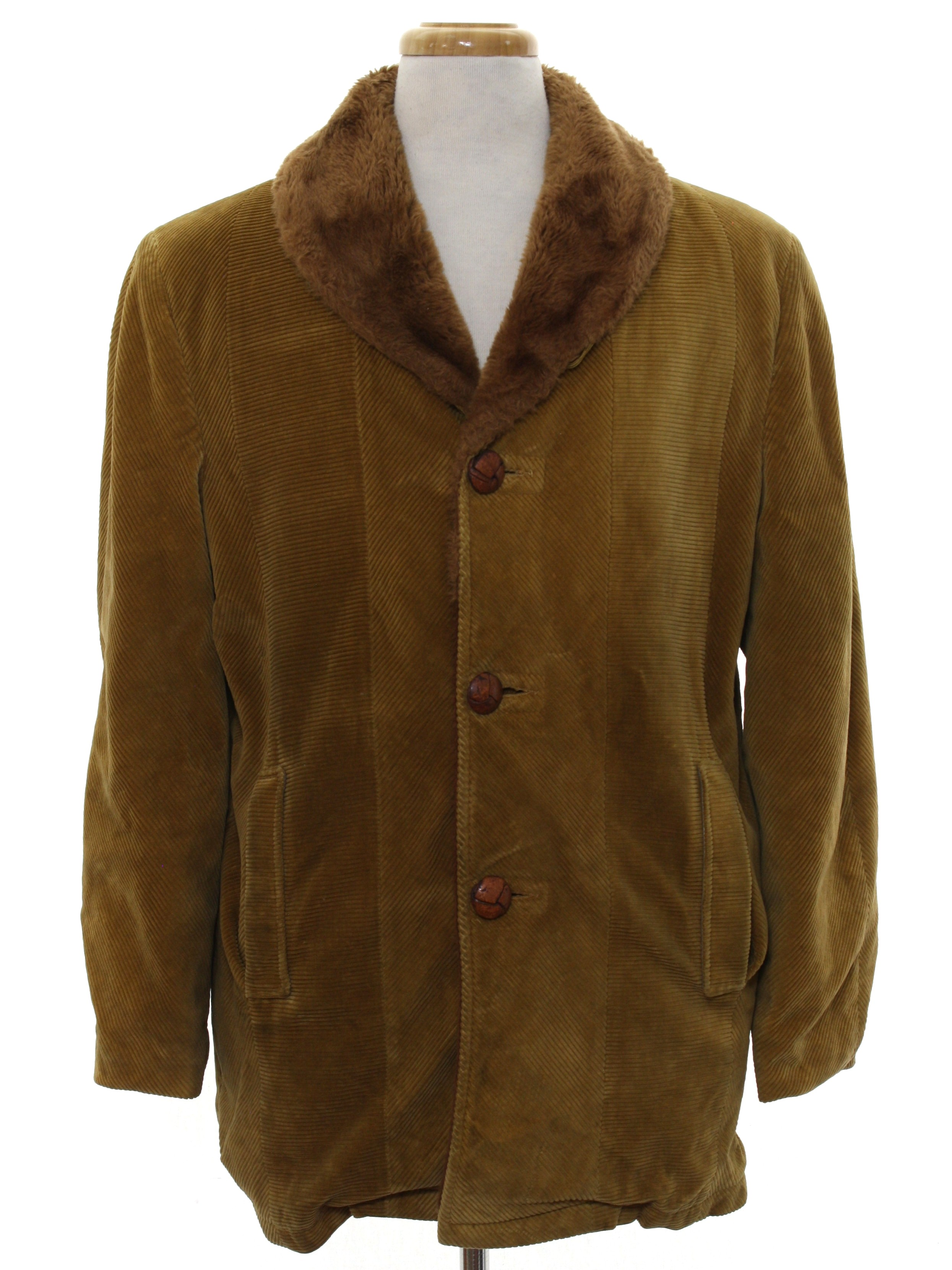 Cresco 1960s Vintage Jacket: 60s -Cresco- Mens medium brown wide ...