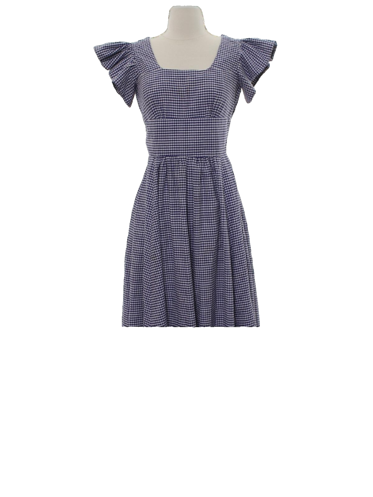 60\'s Vintage Hippie Dress: 60s -home sewn- Womens white and navy ...