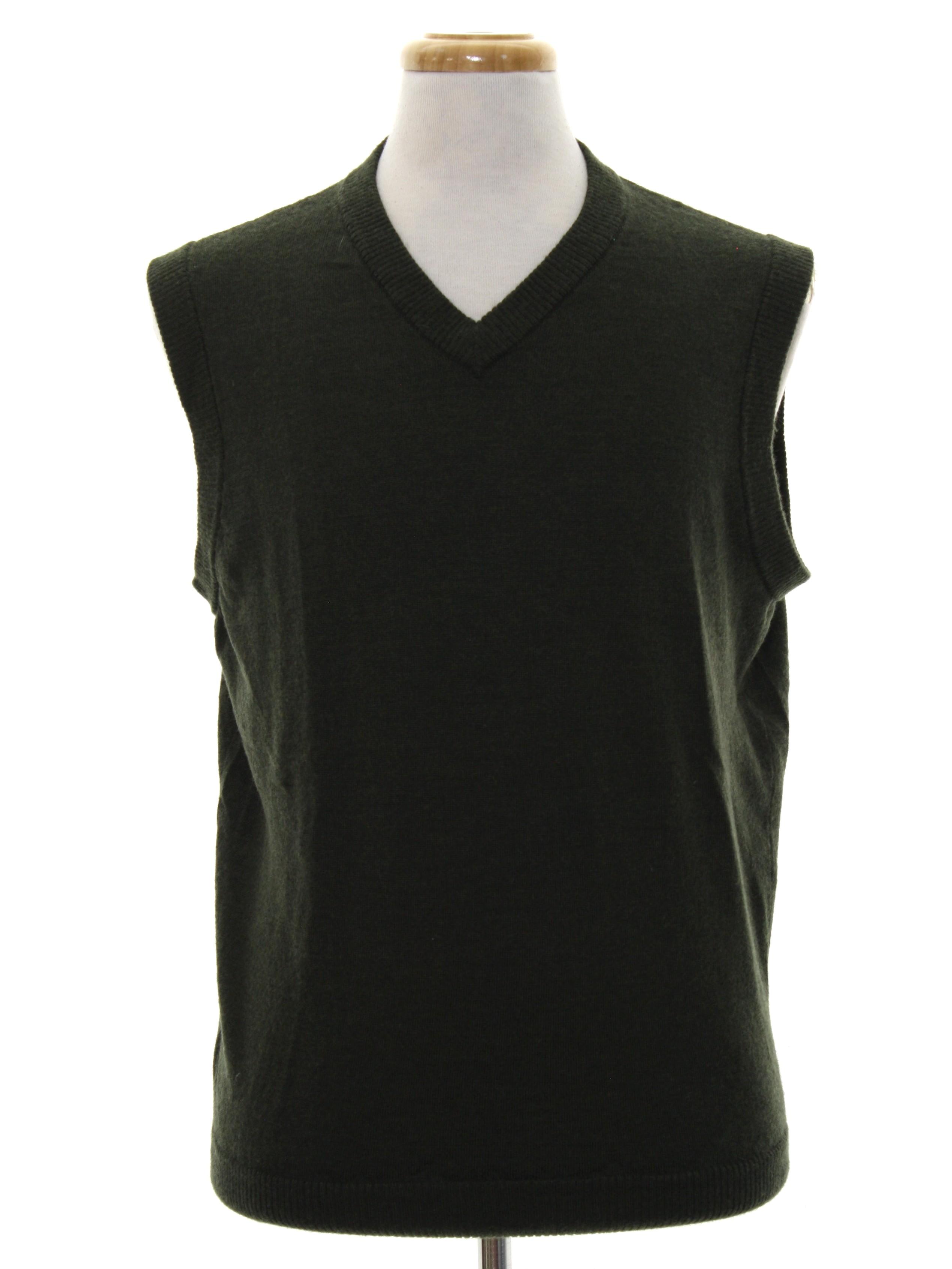 1980's Retro Sweater: Late 80s -Nordstrom-- Mens dark brown ...
