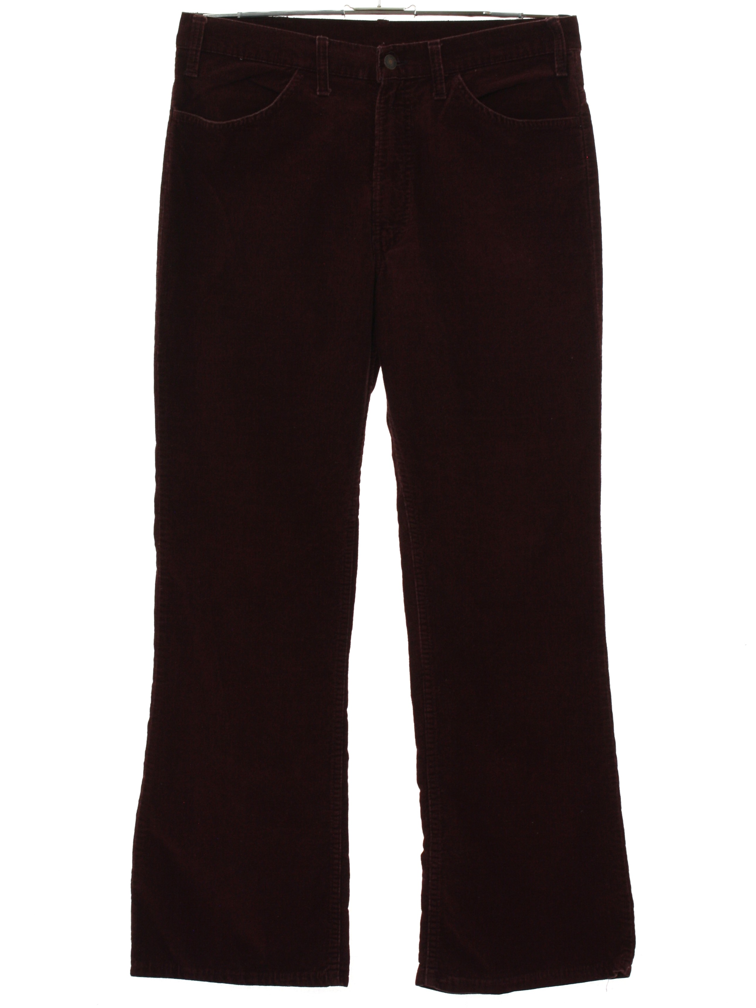 d1fa5dd864a 70s Vintage Levis Bellbottom Pants: 70s -Levis- Mens maroon cotton ...