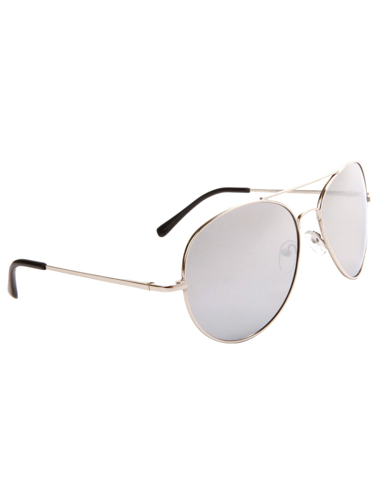 94ba56d4617 70s Glasses (Care Label)  70s style (made recently) -Care Label- Unisex  silver metal rim background aviator sunglasses with mirrored lenses.