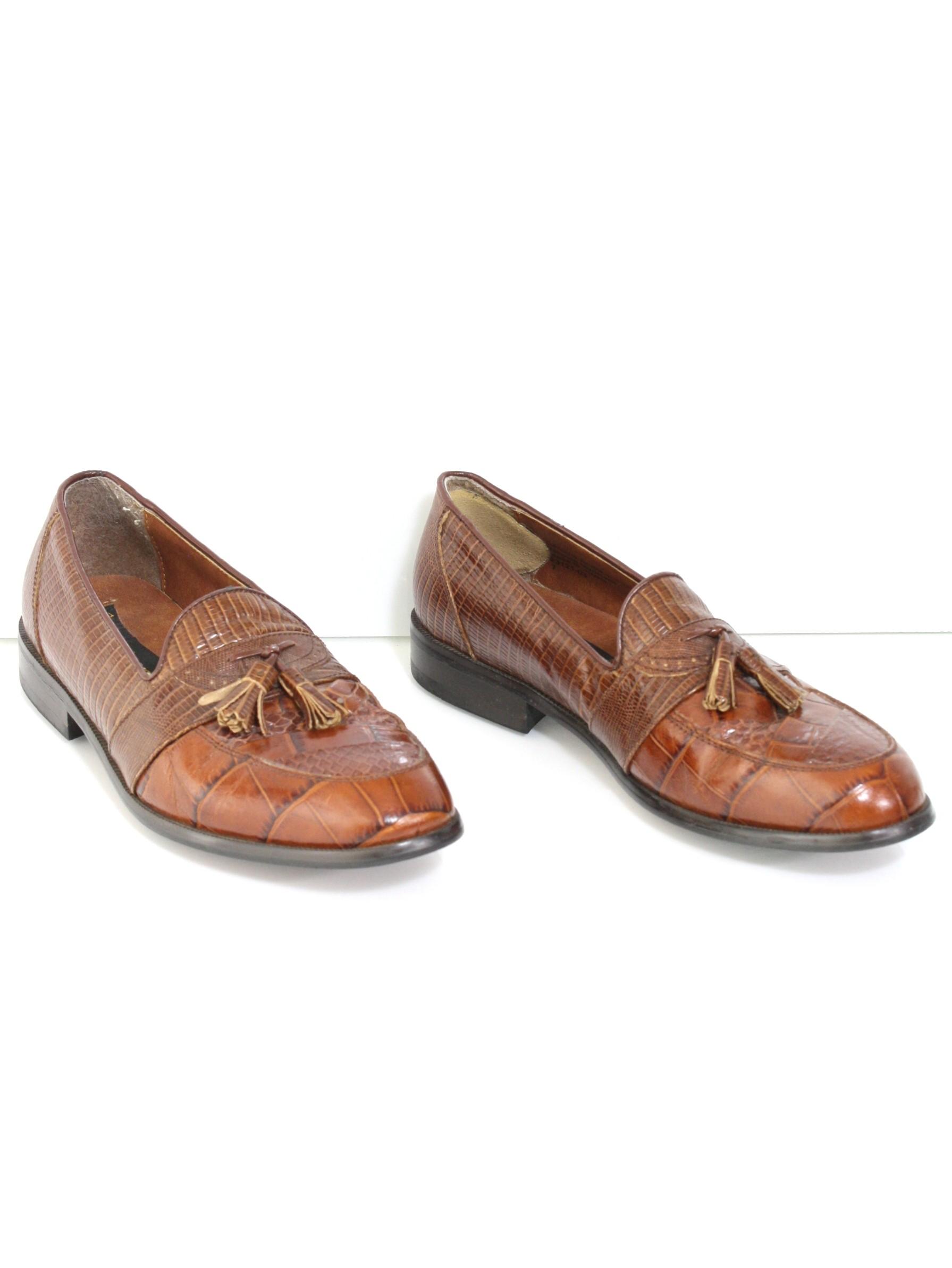 b8b31d941f5b 1980s Stacy Adams Shoes  80s -Stacy Adams- Mens brown snakeskin ...