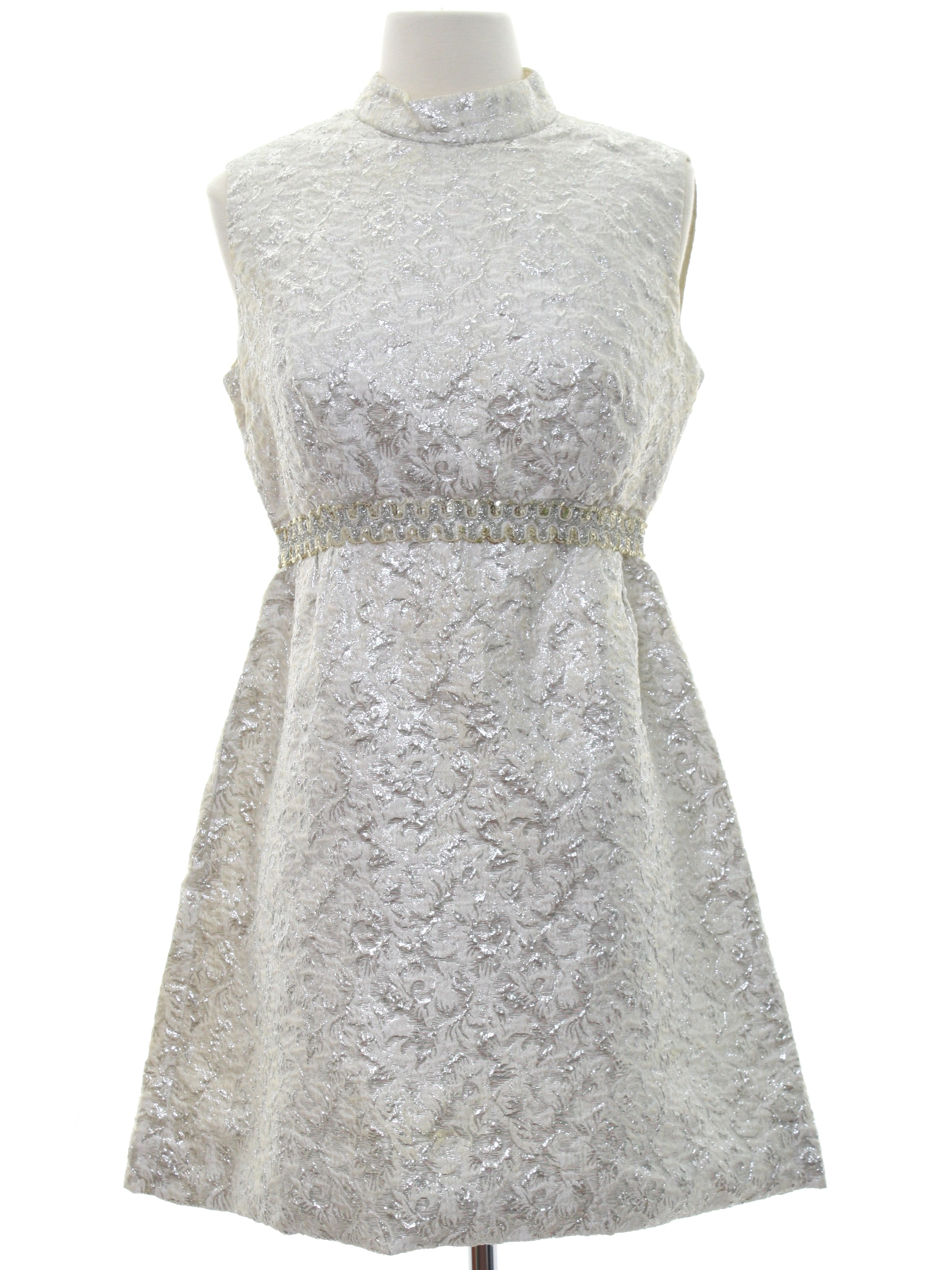 60\'s Cocktail Dress: 60s -No Label- Womens winter white background ...