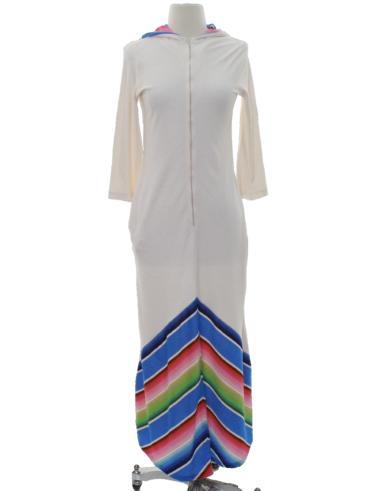 fe666ce33674d Retro 60s Womens Maxi Terry Cloth Robe (Care Label) : Late 60s or ...