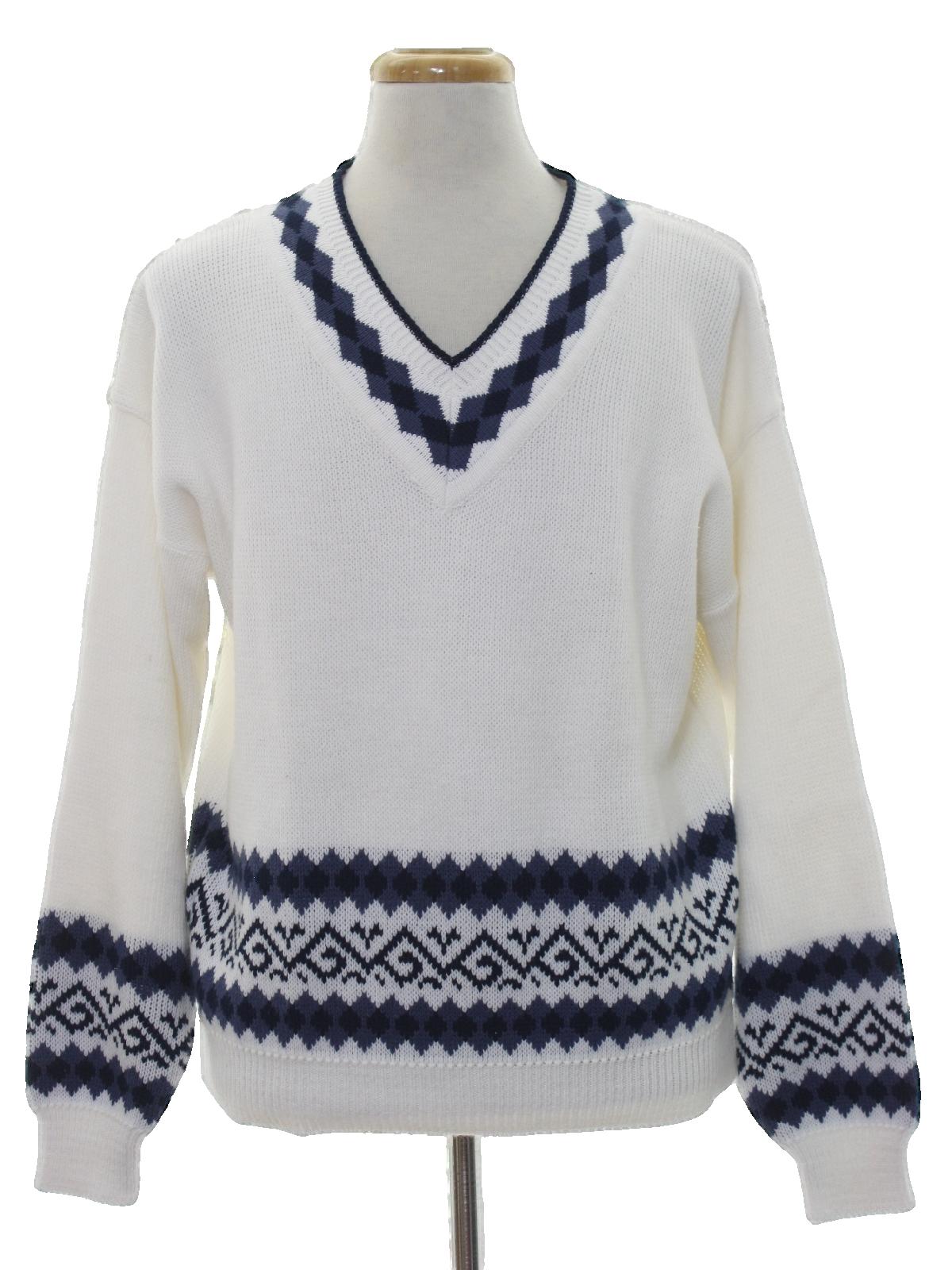 1980\u0027s Sears Mens Store Mens Totally 80s Preppy Sweater