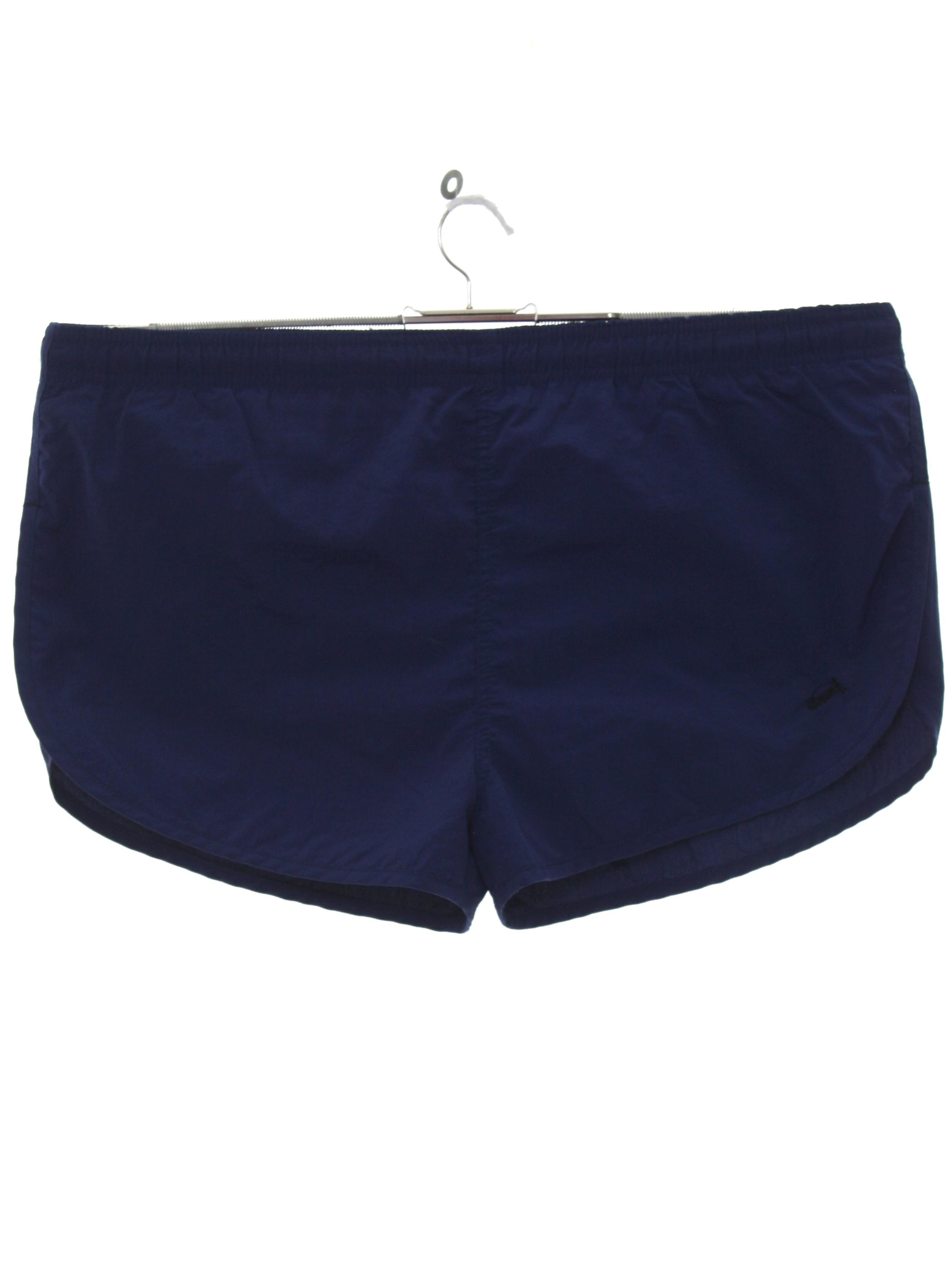 1b61e1a719bef Uzzi 90's Vintage Shorts: 90s -Uzzi- Mens navy blue background nylon ...