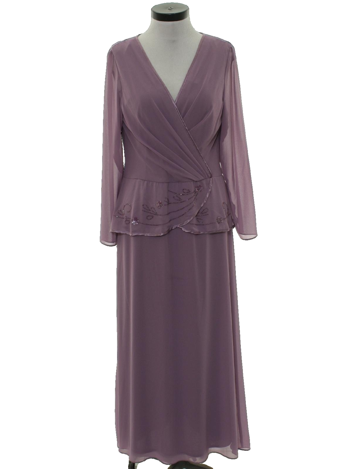 70s Vintage Patra Cocktail Dress 70s Patra Womens Plum Polyester