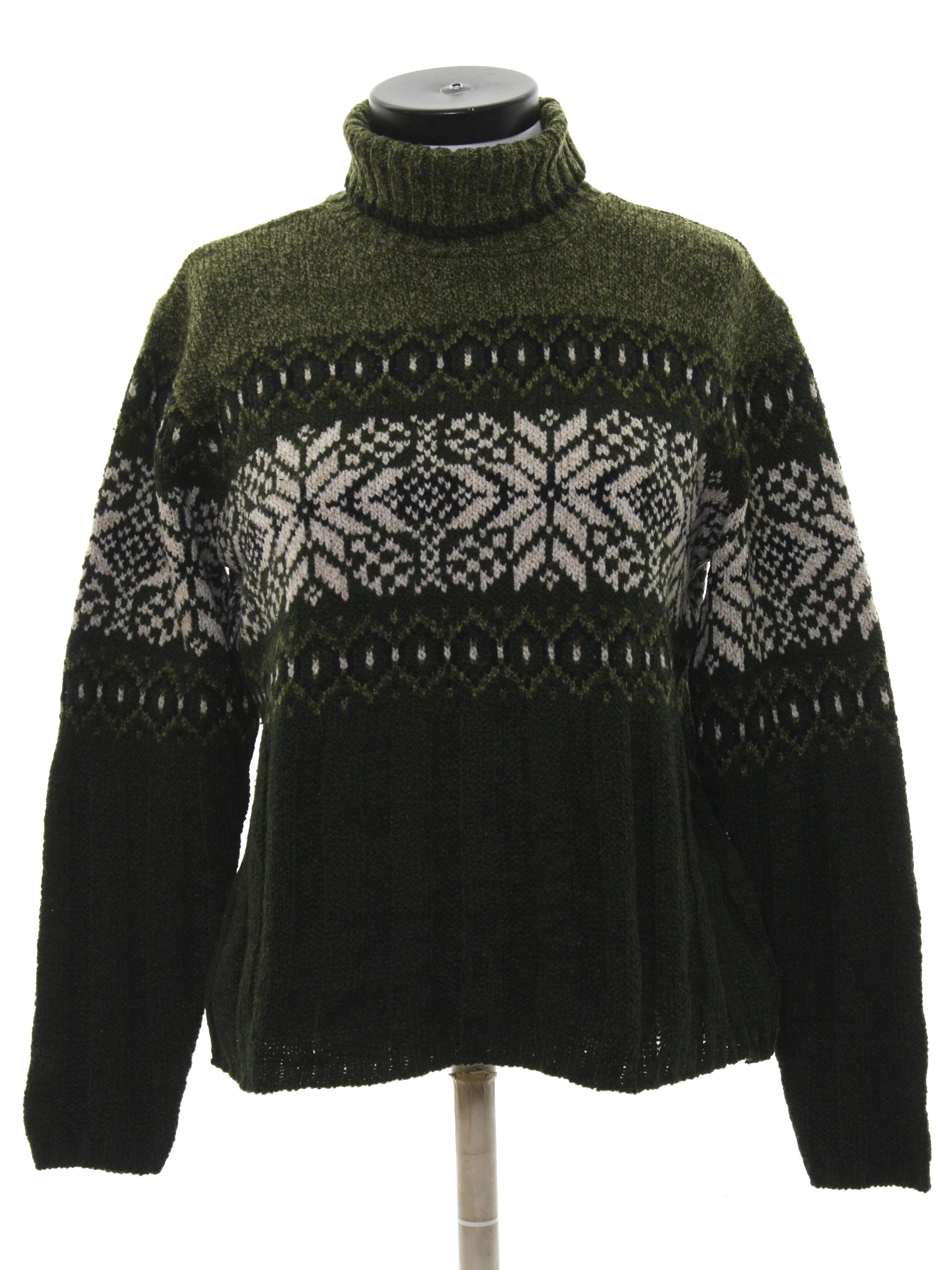1990\u0027s Fashion Bug Womens Snowflake Ski Sweater