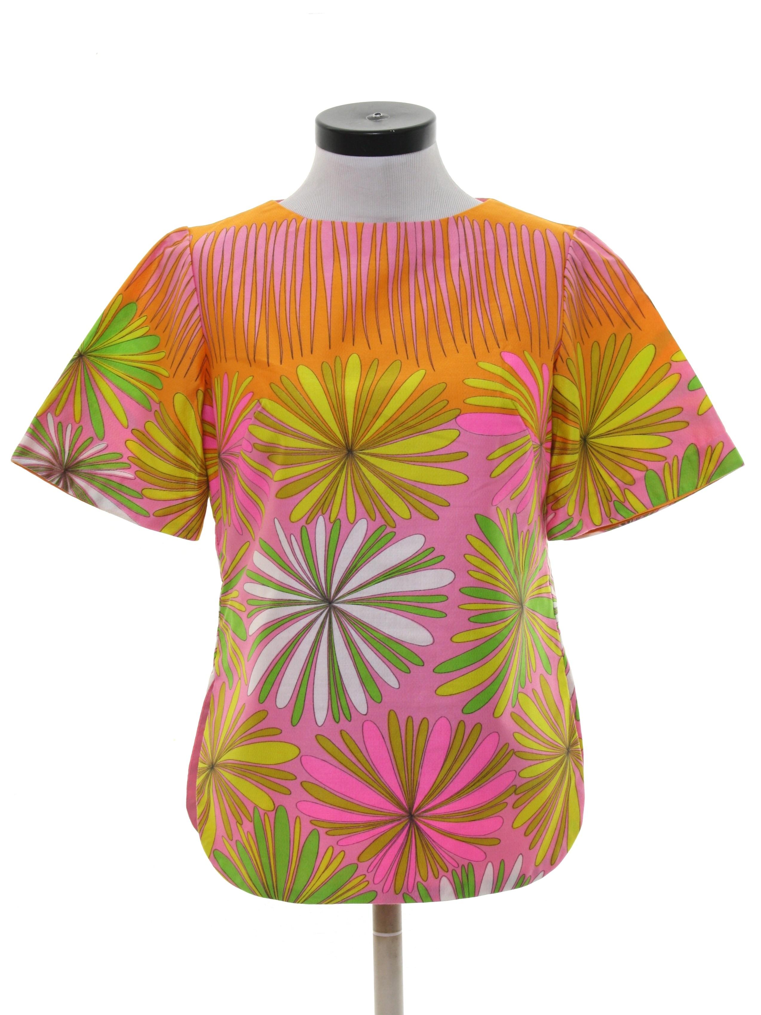 eff0dfc1b3d Retro Seventies Shirt  70s -Alex Colman- Womens pink background ...