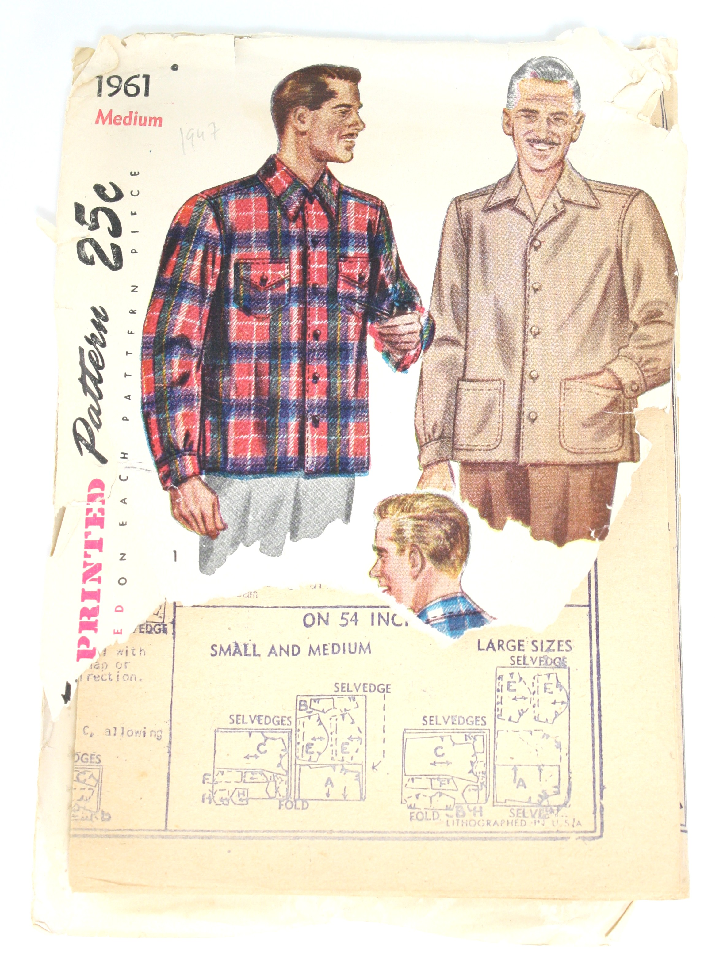 Simplicity 1961 Forties Vintage Sewing Pattern: 40s -Simplicity 1961 ...