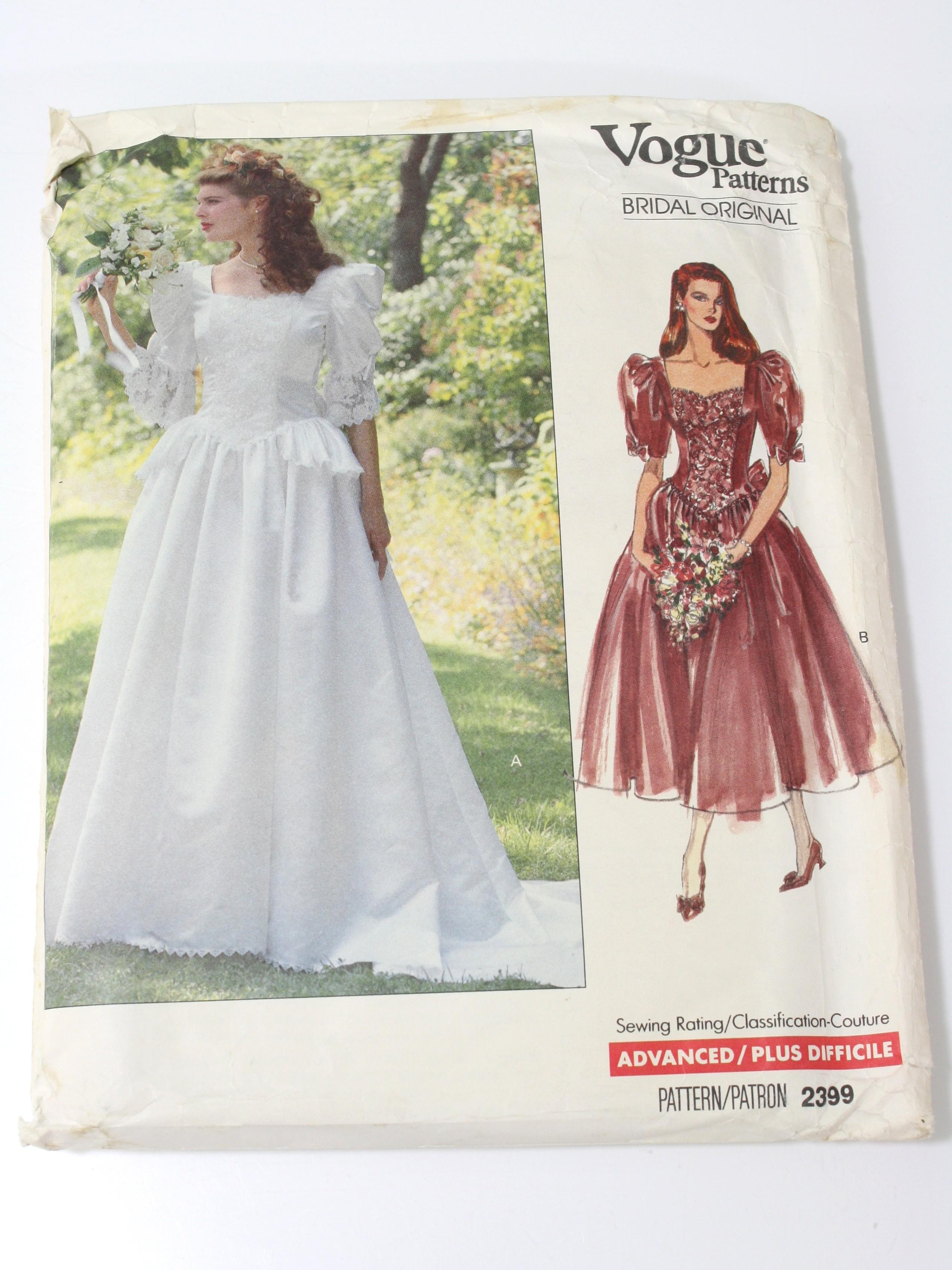 1980 S Sewing Pattern Vogue Pattern No 2399 80s Vogue