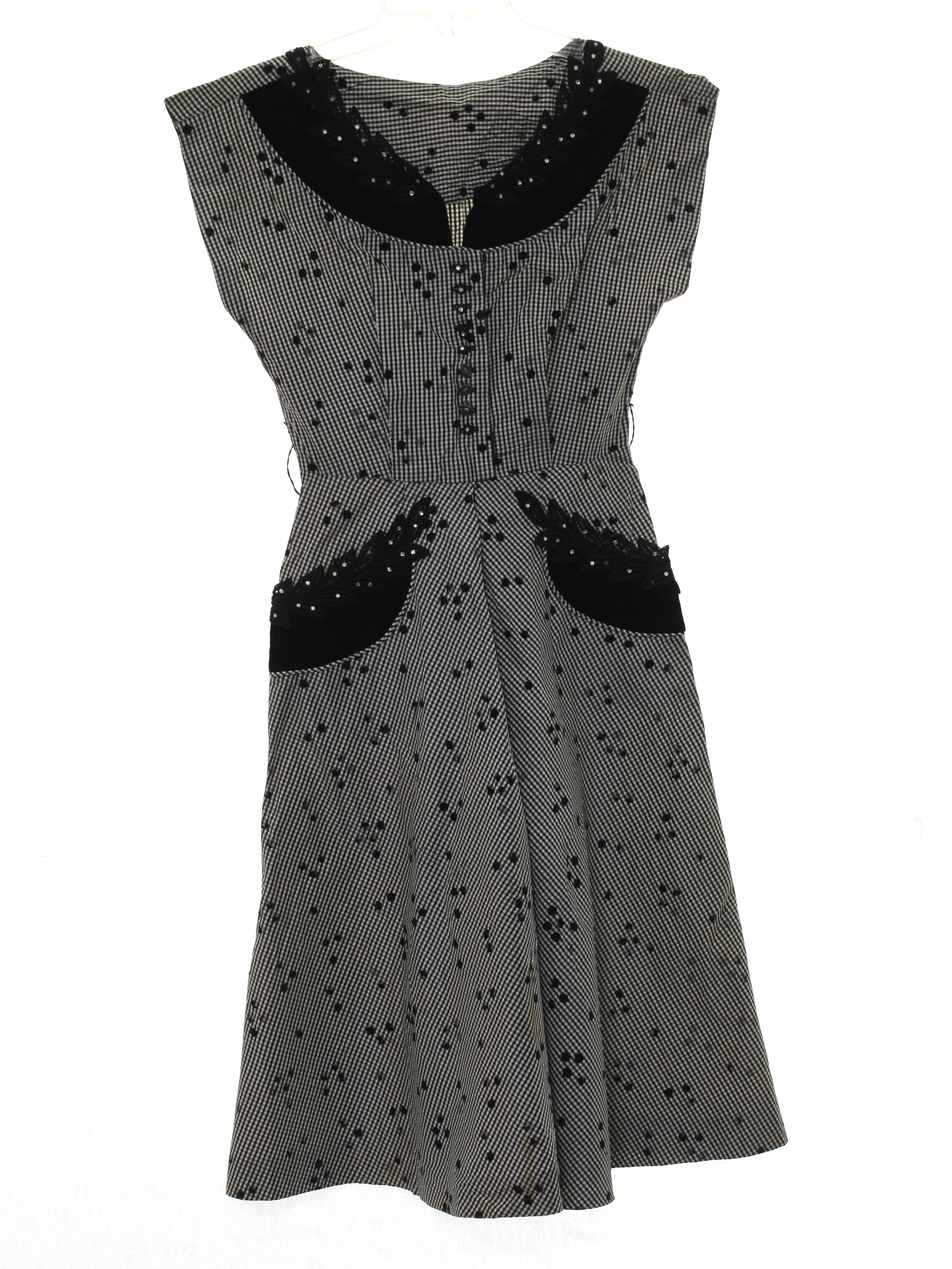 Forties Cocktail Dress: 40s style (made in 50s) -No Label- Petite ...