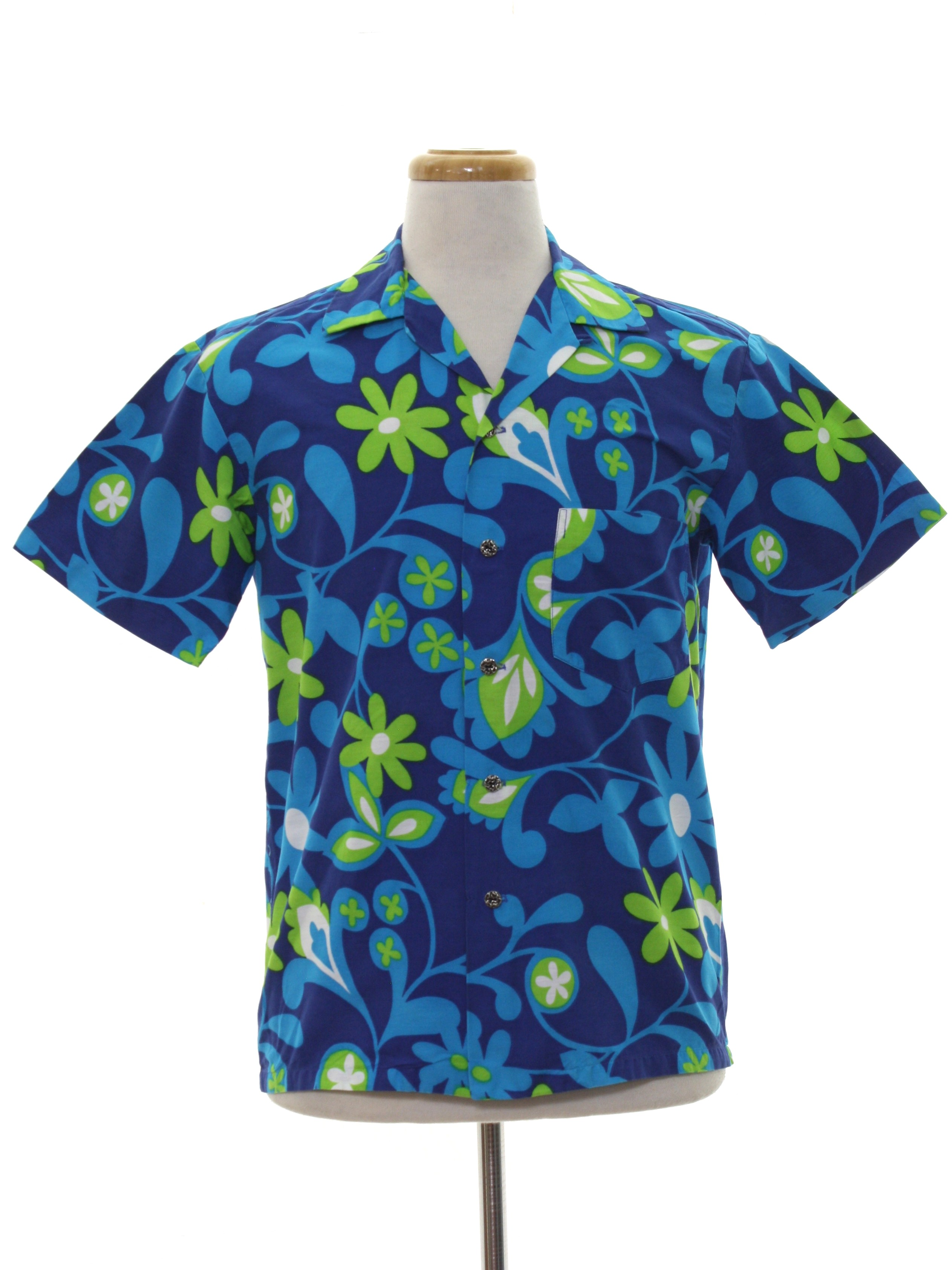 Retro 60\'s Hawaiian Shirt: Early 60s -Kamehameha Made and Styled in ...