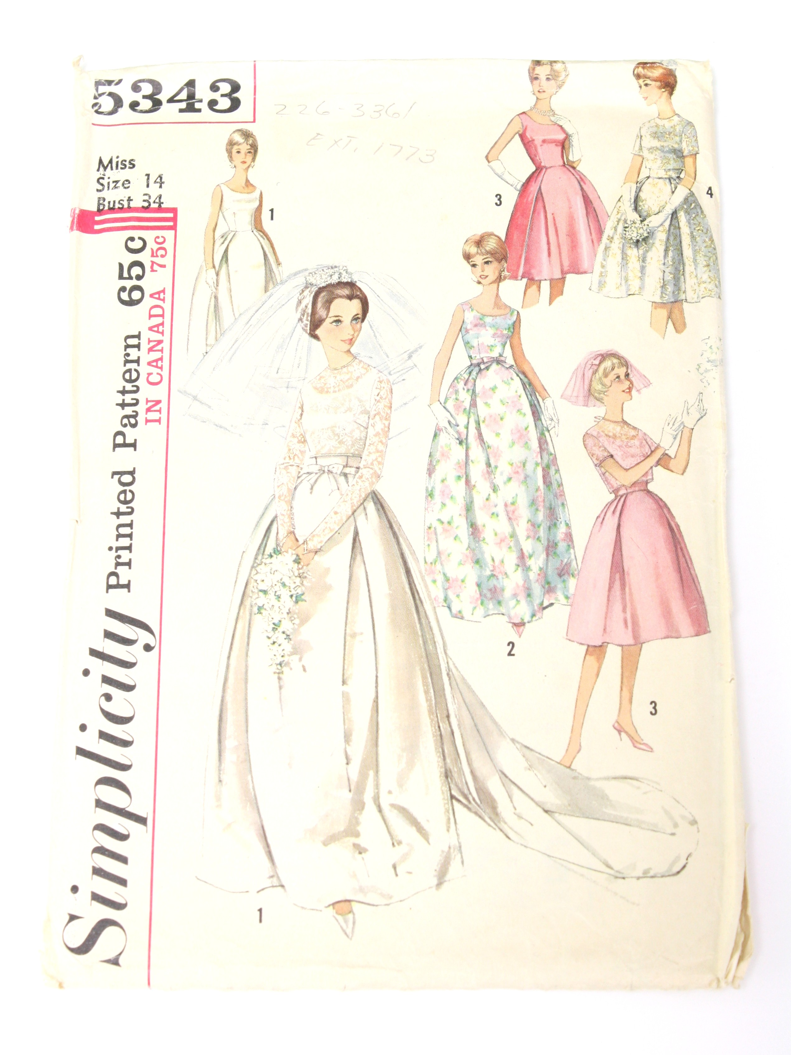 1960s Vintage Sewing Pattern: 60s -Simplicity Pattern No. 5343 ...