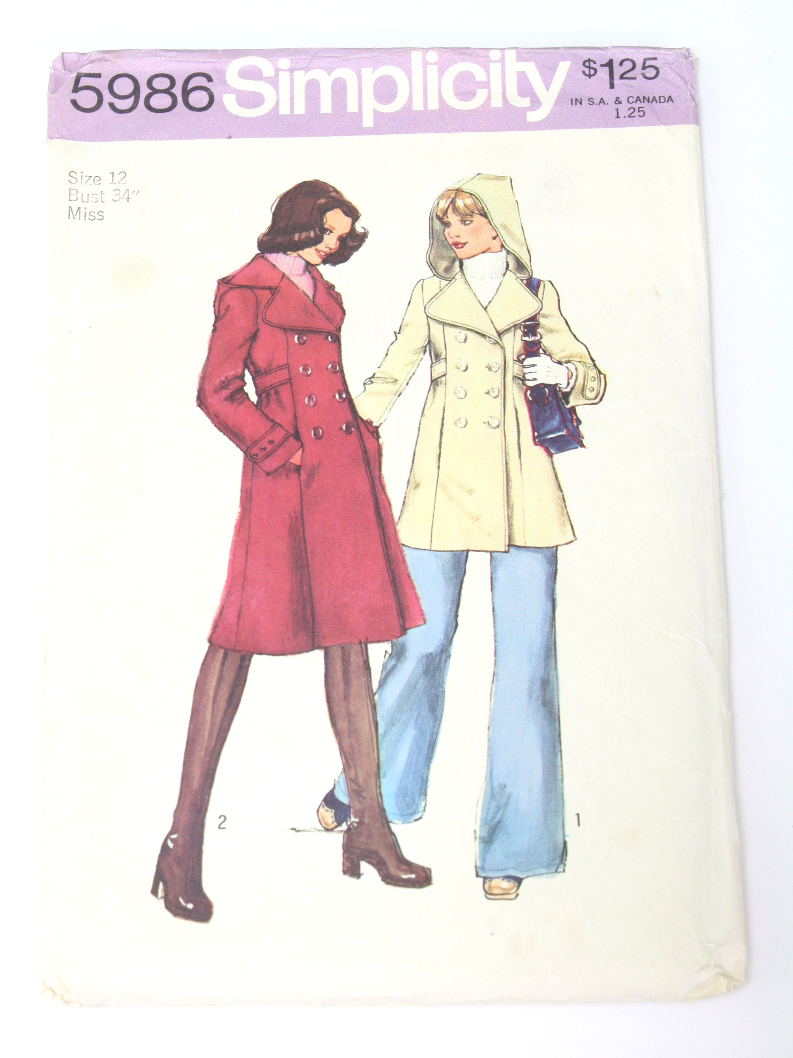 Retro 70s Sewing Pattern (Simplicity Pattern No. 5986) : 70s ...